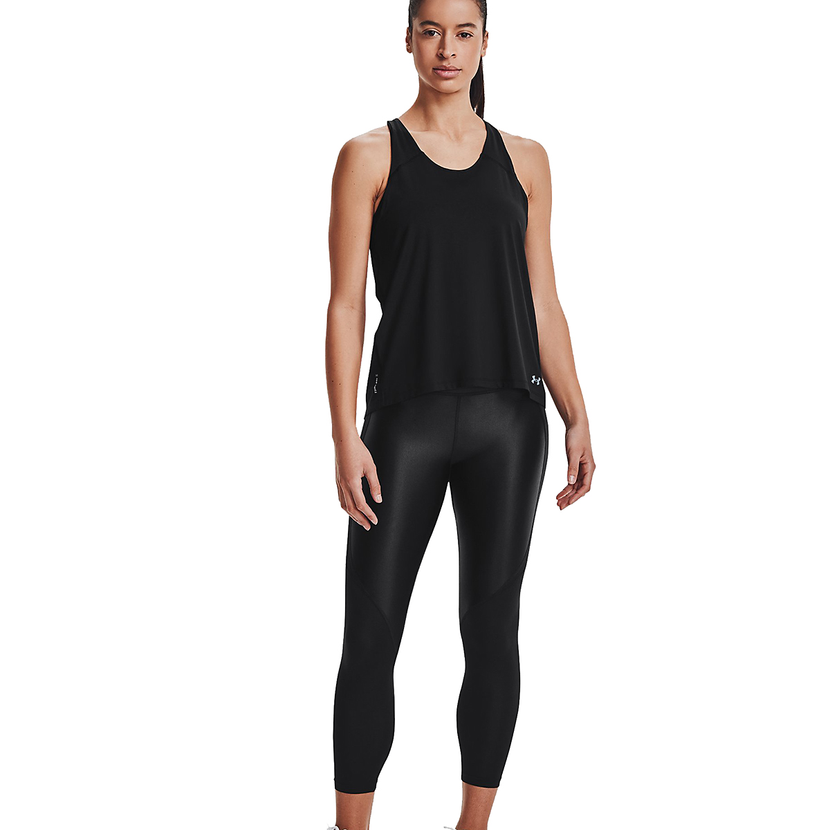 Women's Under Armour Iso-Chill Run 200 Tank - Color: Black - Size: XS, Black, large, image 1