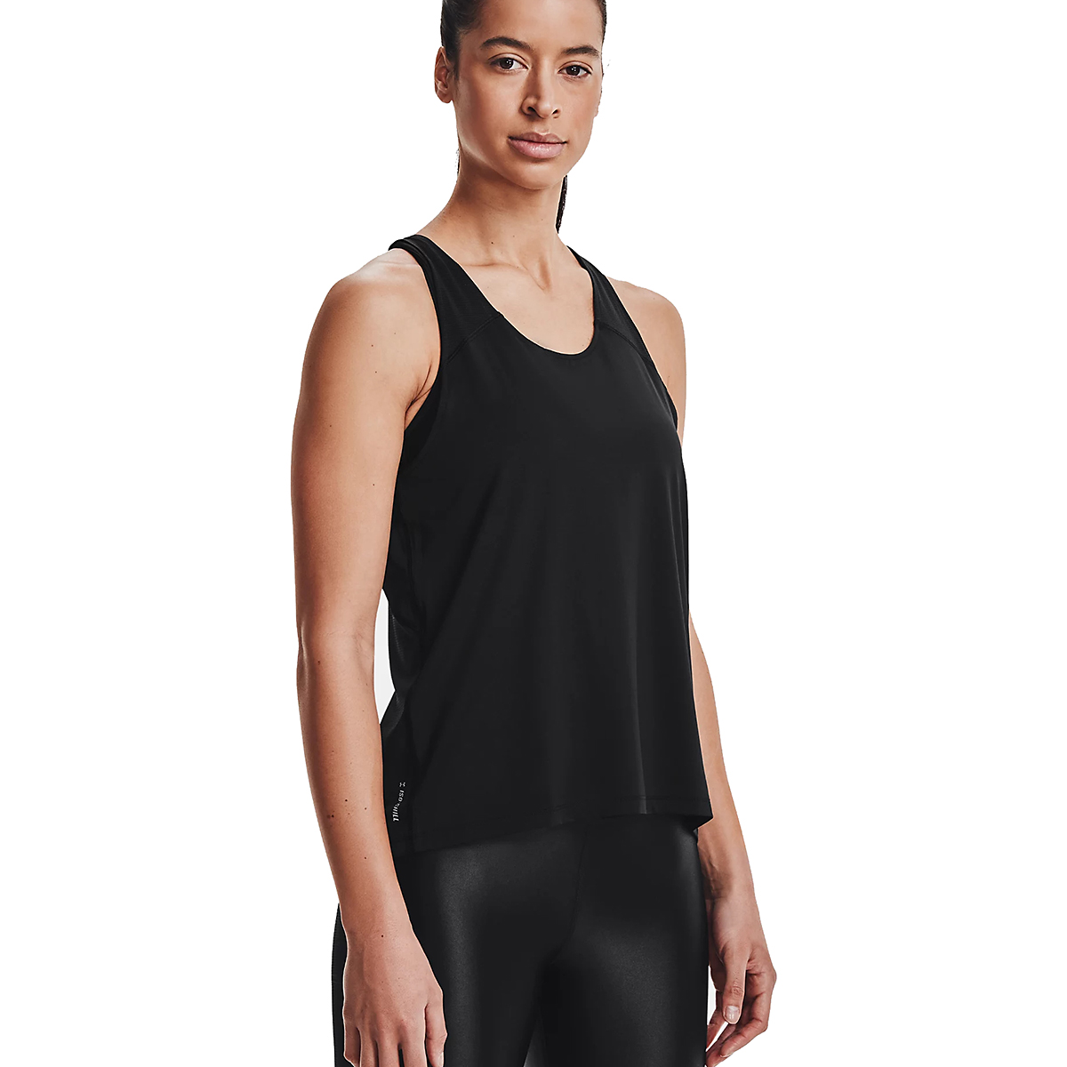 Women's Under Armour Iso-Chill Run 200 Tank - Color: Black - Size: XS, Black, large, image 3