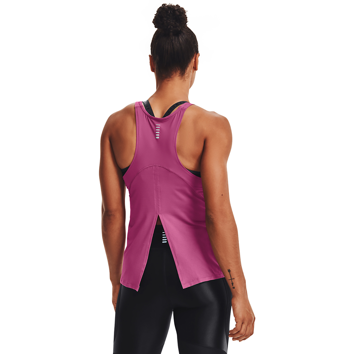 Women's Under Armour Iso-Chill Run 200 Tank - Color: Pink Quartz - Size: XS, Pink Quartz, large, image 2