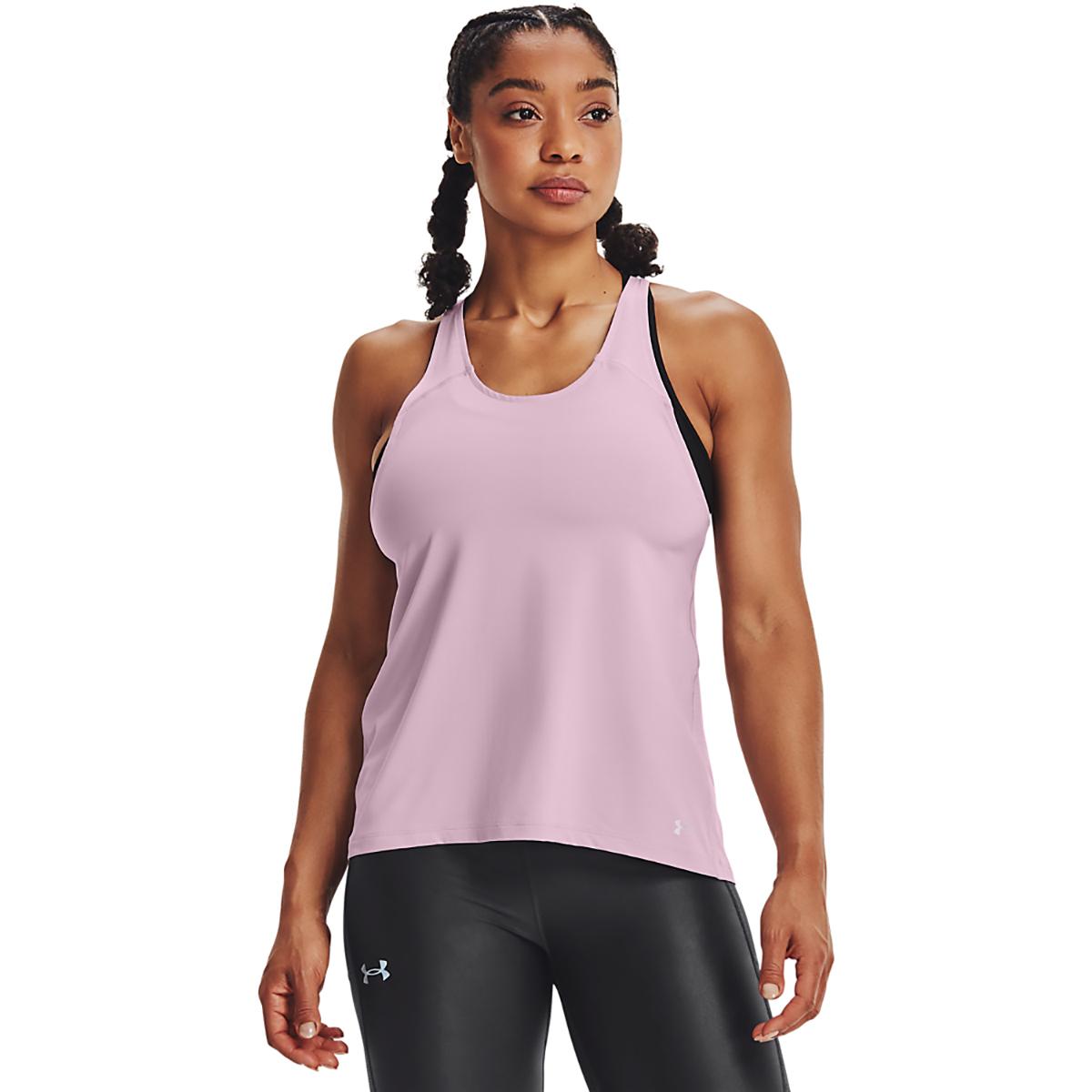 Women's Under Armour Iso-Chill Run 200 Tank - Color: Mauve Pink/Mauve Pink/Reflective - Size: XS, Mauve Pink/Mauve Pink/Reflective, large, image 1
