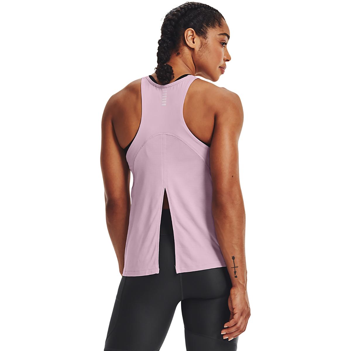 Women's Under Armour Iso-Chill Run 200 Tank - Color: Mauve Pink/Mauve Pink/Reflective - Size: XS, Mauve Pink/Mauve Pink/Reflective, large, image 2