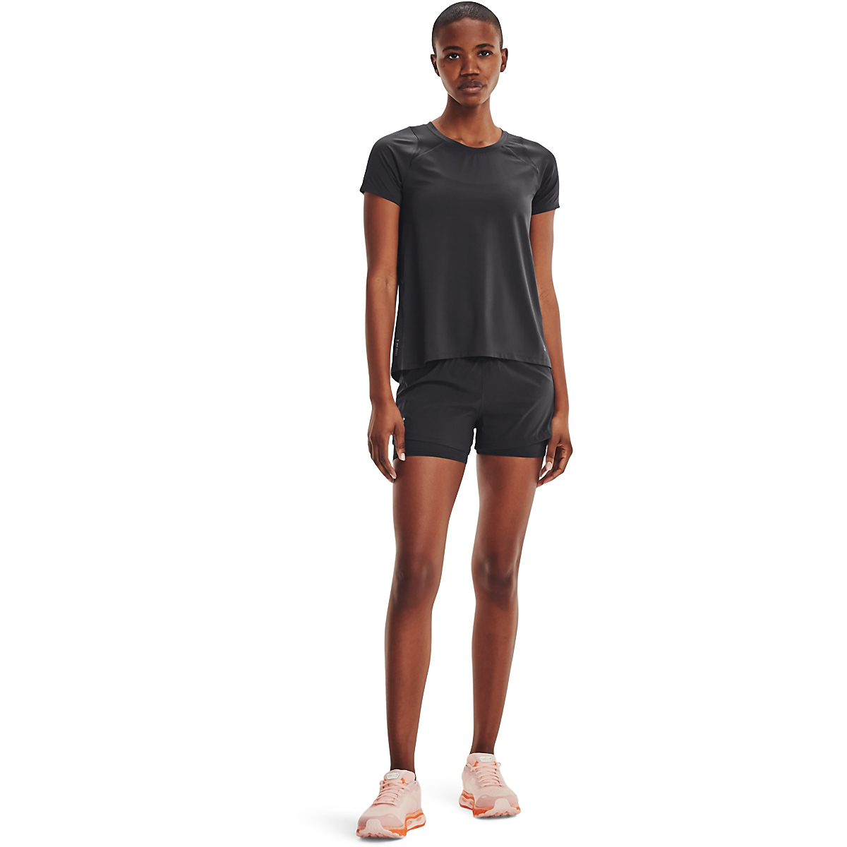 Women's Under Armour Iso-Chill Run Short Sleeve Tee - Color: Jet Gray/Jet Gray/Halo Gray - Size: XS, Jet Gray/Jet Gray/Halo Gray, large, image 1
