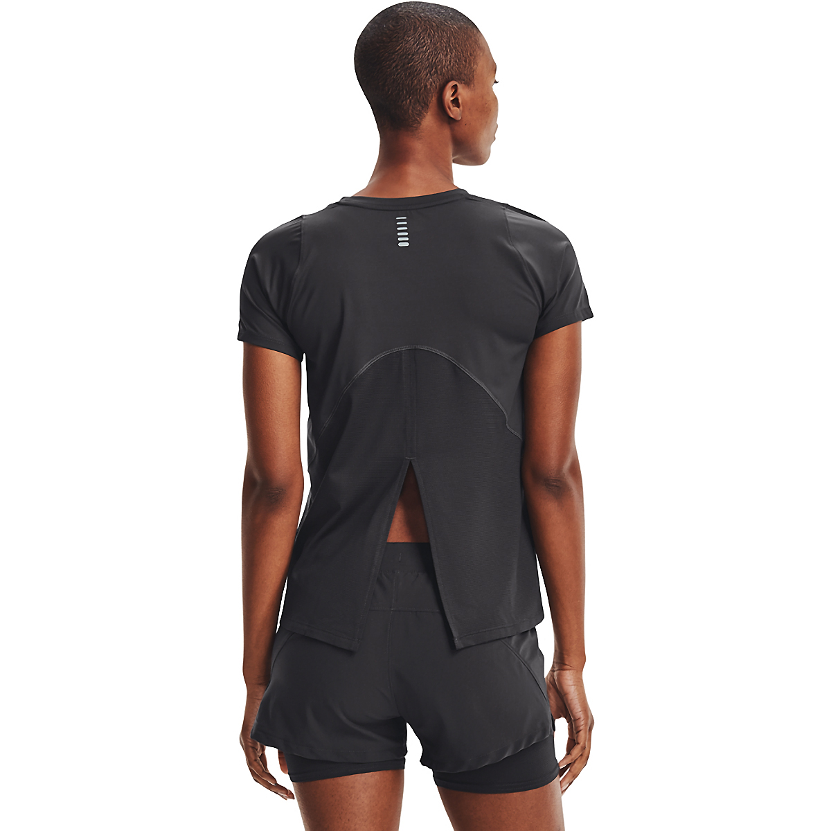 Women's Under Armour Iso-Chill Run Short Sleeve Tee - Color: Jet Gray/Jet Gray/Halo Gray - Size: XS, Jet Gray/Jet Gray/Halo Gray, large, image 2