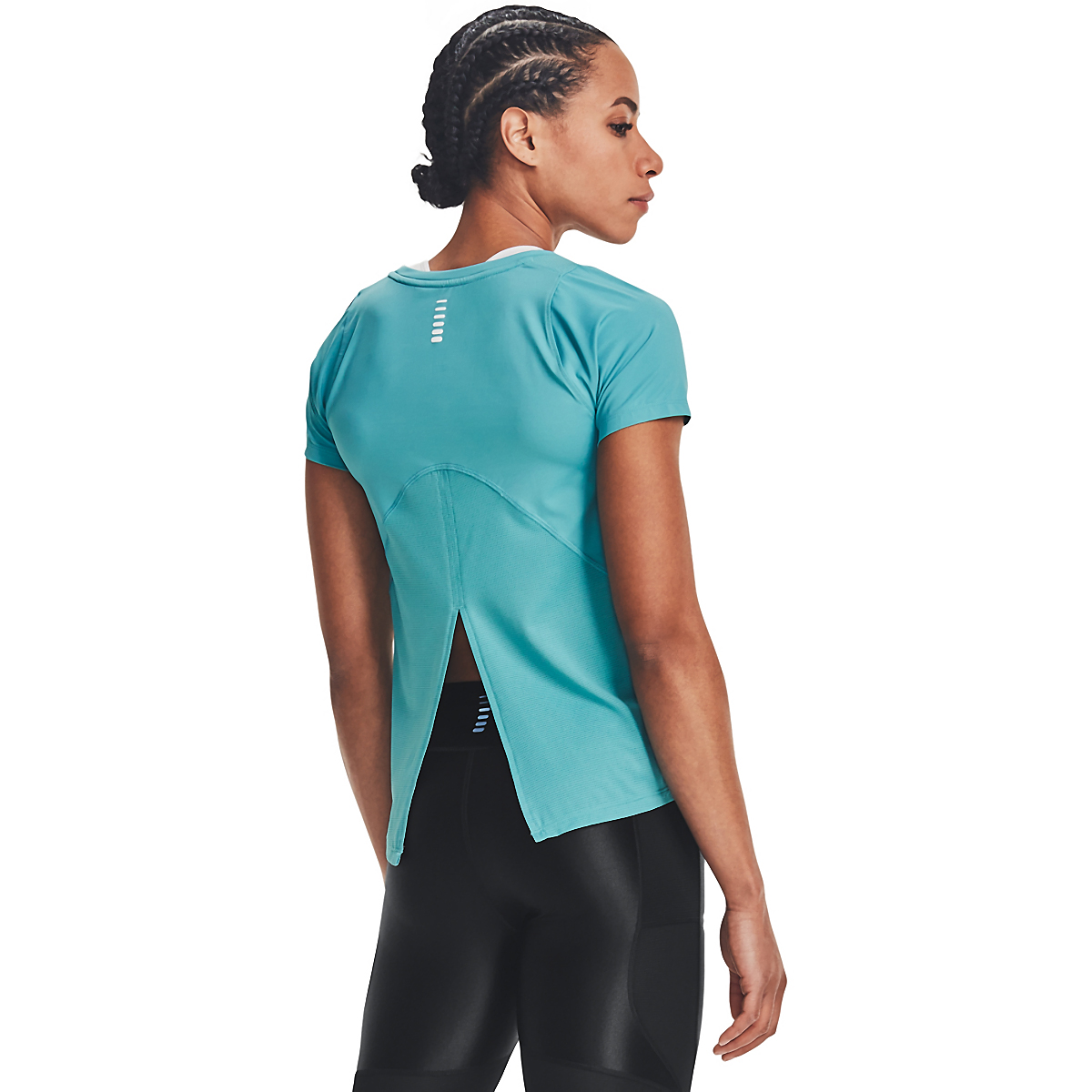 Women's Under Armour Iso-Chill Run Short Sleeve Tee, , large, image 2
