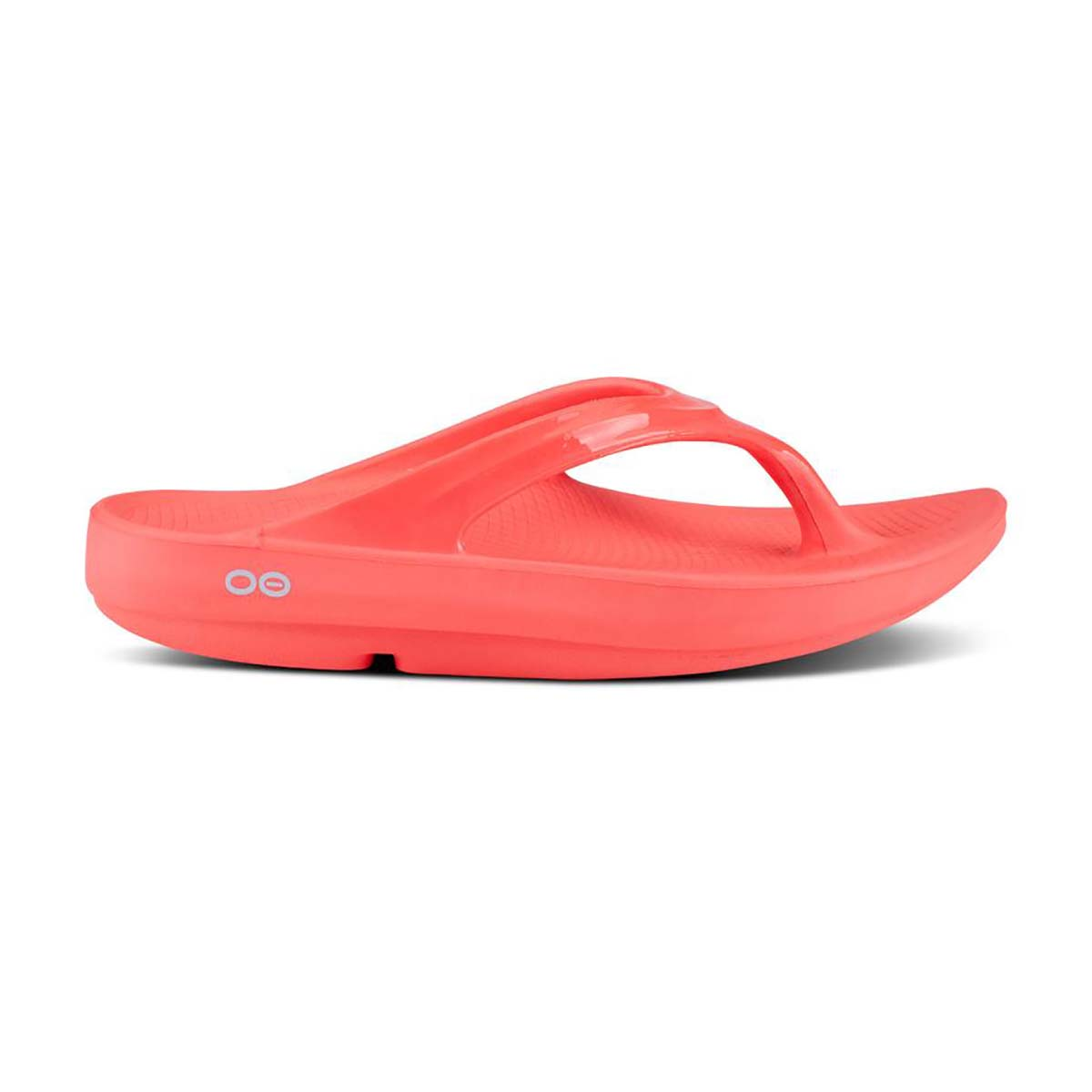 Women's Oofos OOlala Thong Recovery Sandal - Color: Coral - Size: 6 - Width: Regular, Coral, large, image 2