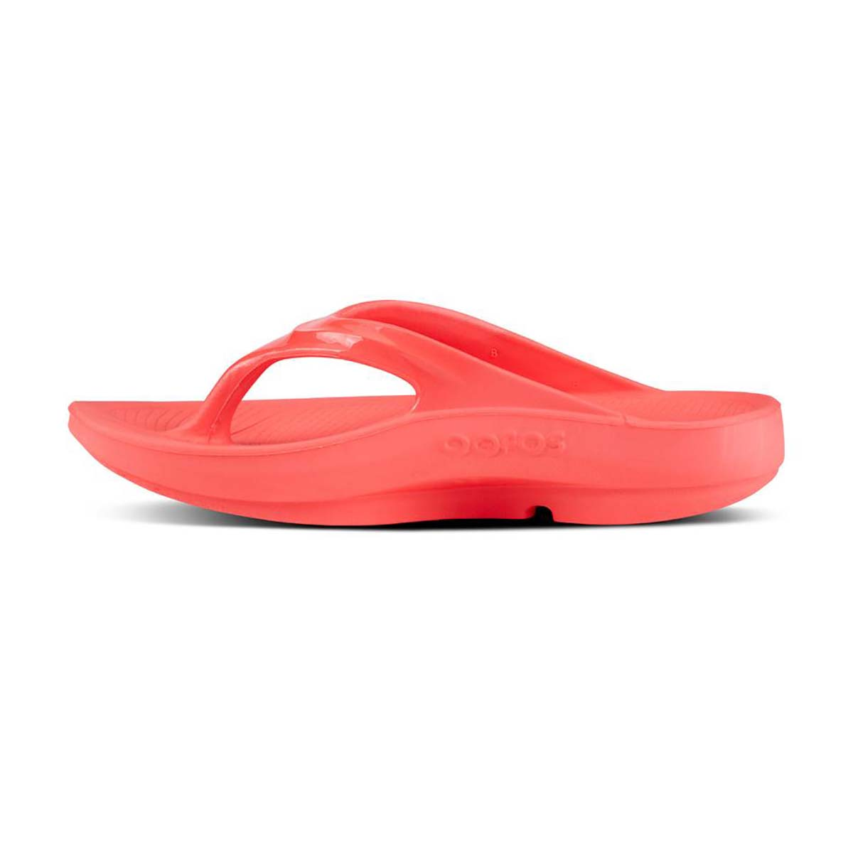 Women's Oofos OOlala Thong Recovery Sandal - Color: Coral - Size: 6 - Width: Regular, Coral, large, image 4