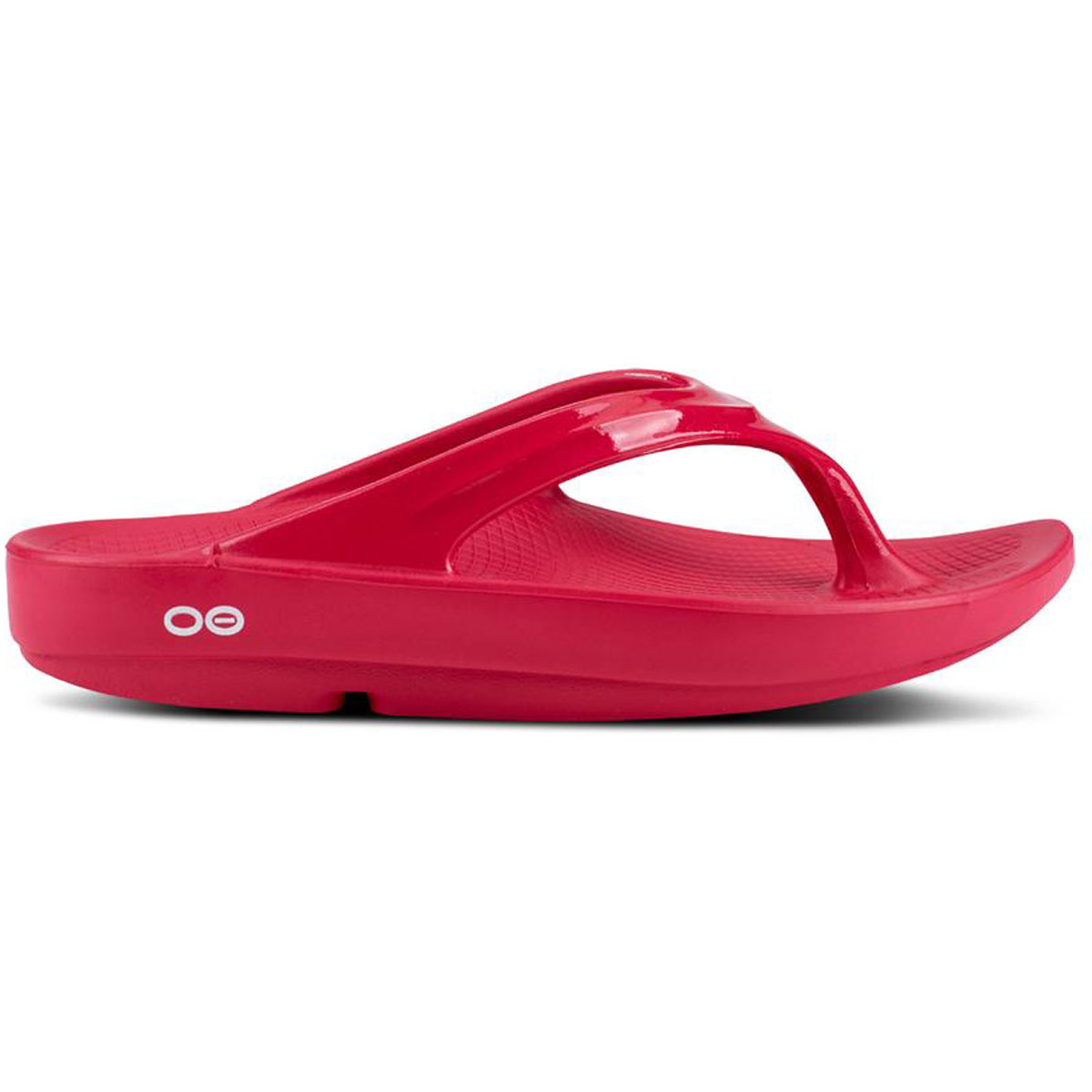 Women's Oofos OOlala Thong Recovery Sandal - Color: Raspberry - Size: 5 - Width: Regular, Raspberry, large, image 1