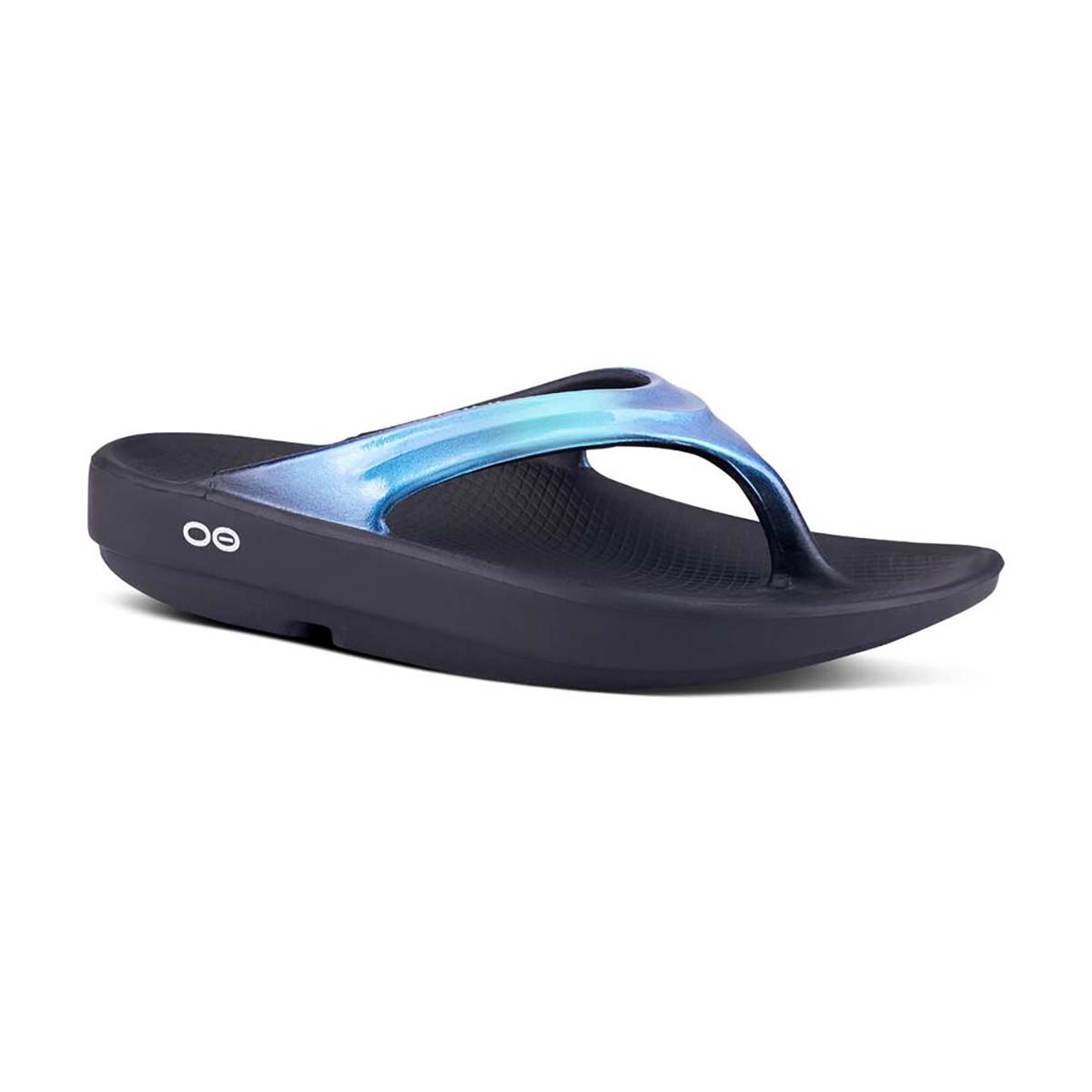 Women's Oofos Oolala Luxe Recovery Sandal - Color: Atlantis - Size: 11 - Width: Regular, Atlantis, large, image 1