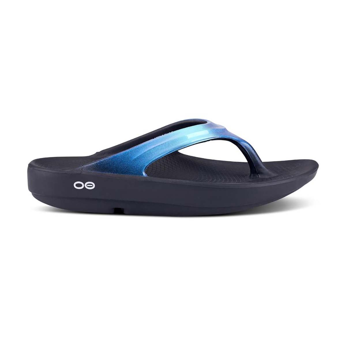 Women's Oofos Oolala Luxe Recovery Sandal - Color: Atlantis - Size: 11 - Width: Regular, Atlantis, large, image 2
