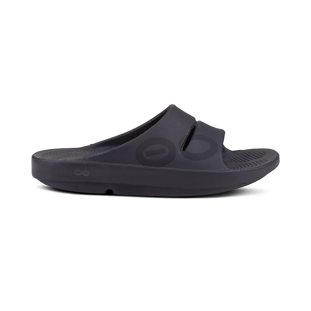 Oofos OOahh Sport Slide Recovery Sandal - Color: Black/Matte - Size: M3/W4.5 - Width: Regular, Black/Matte, large, image 1