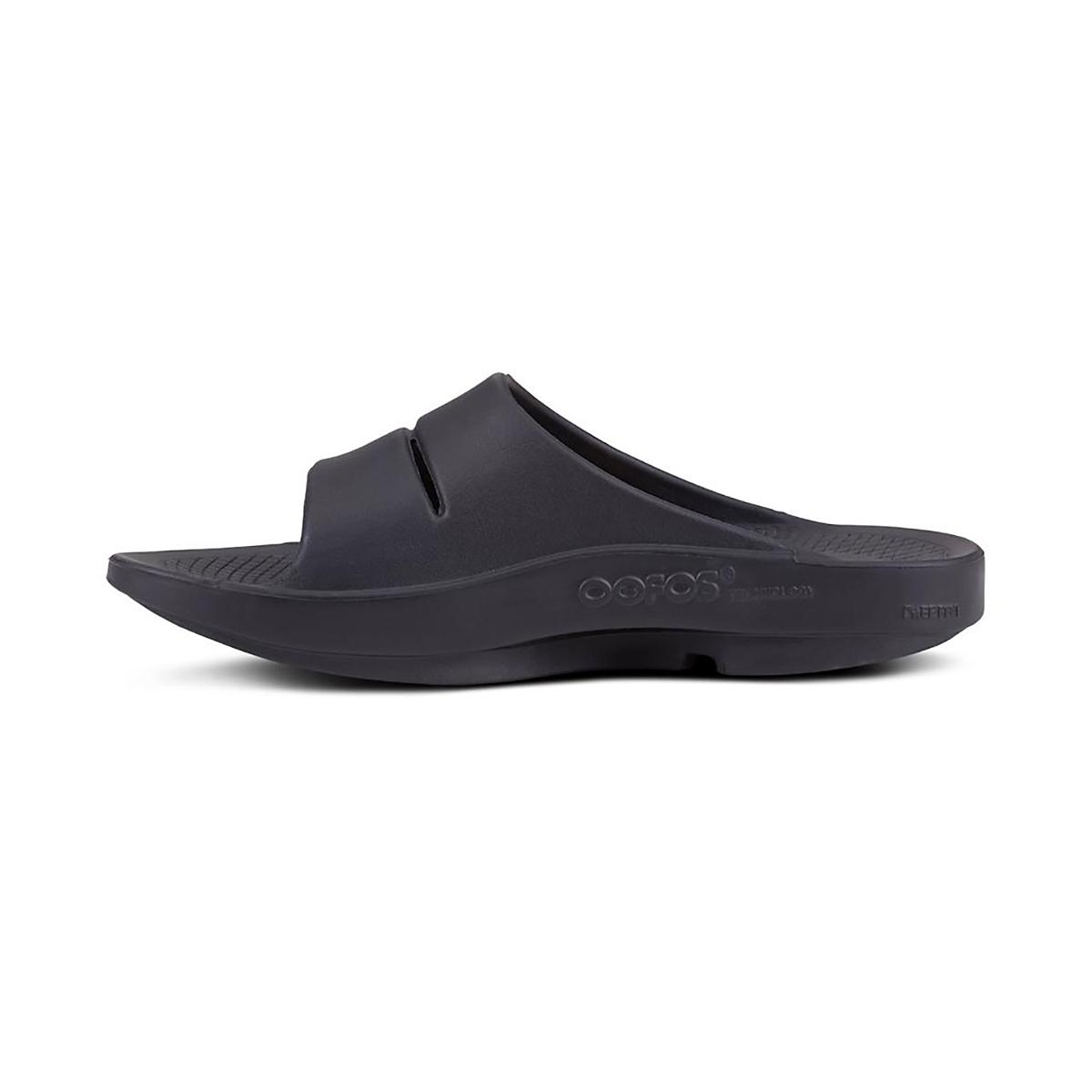 Oofos OOahh Sport Slide Recovery Sandal - Color: Black/Matte - Size: M3/W4.5 - Width: Regular, Black/Matte, large, image 2