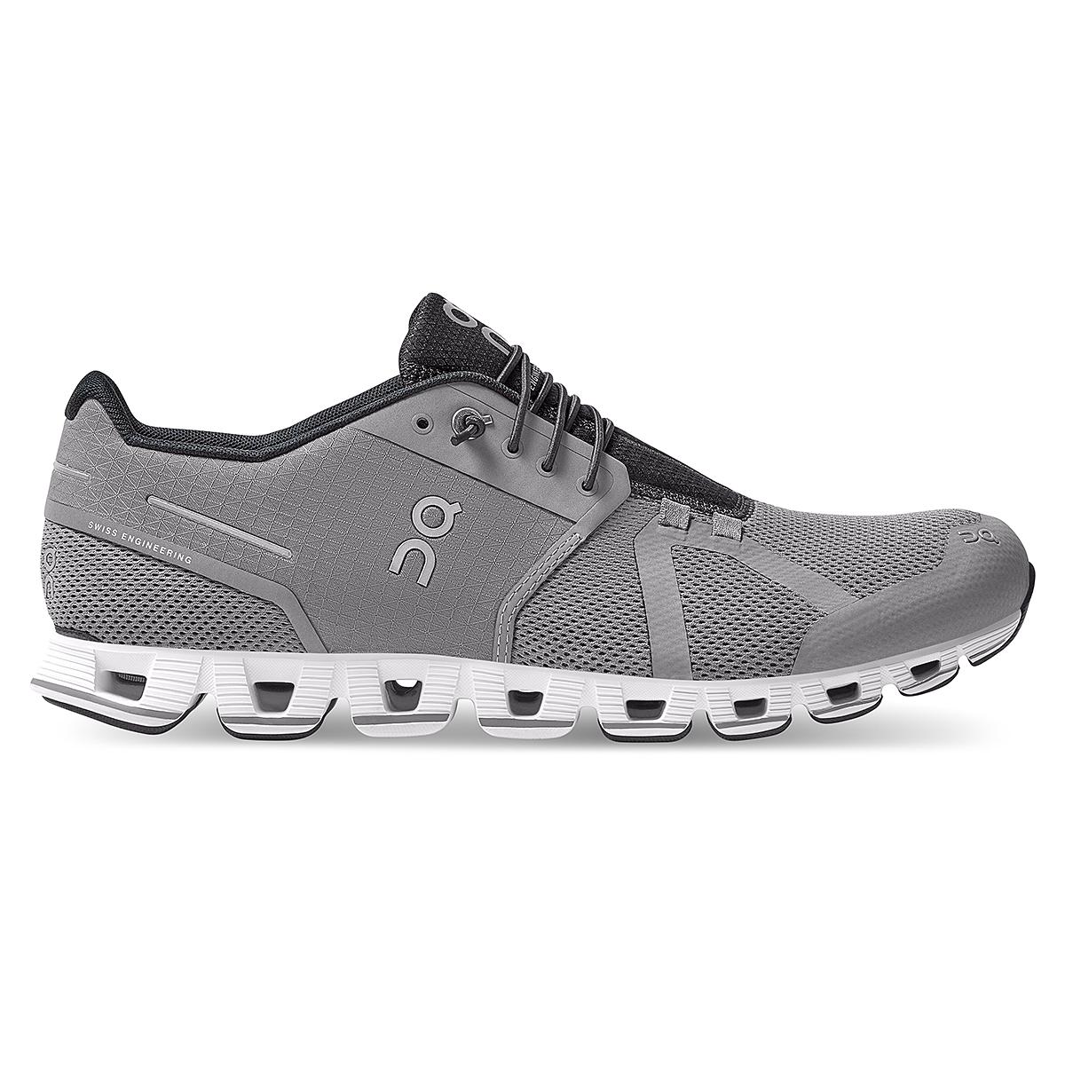 Men's On Cloud Running Shoe - Color: Zinc/White - Size: 7 - Width: Regular, Zinc/White, large, image 1