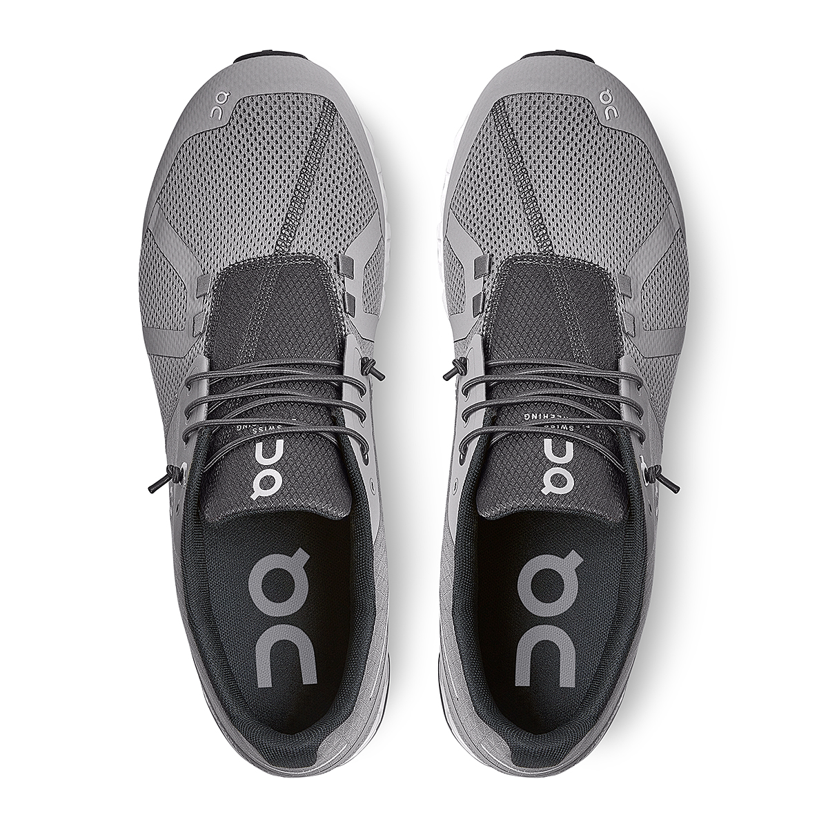 Men's On Cloud Running Shoe - Color: Zinc/White - Size: 7 - Width: Regular, Zinc/White, large, image 4