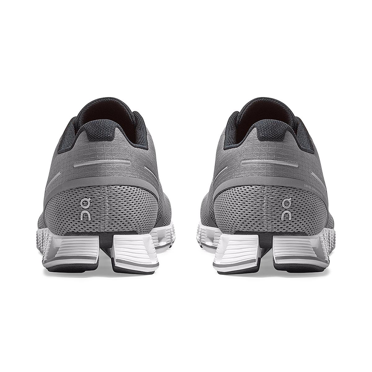 Men's On Cloud Running Shoe - Color: Zinc/White - Size: 7 - Width: Regular, Zinc/White, large, image 5