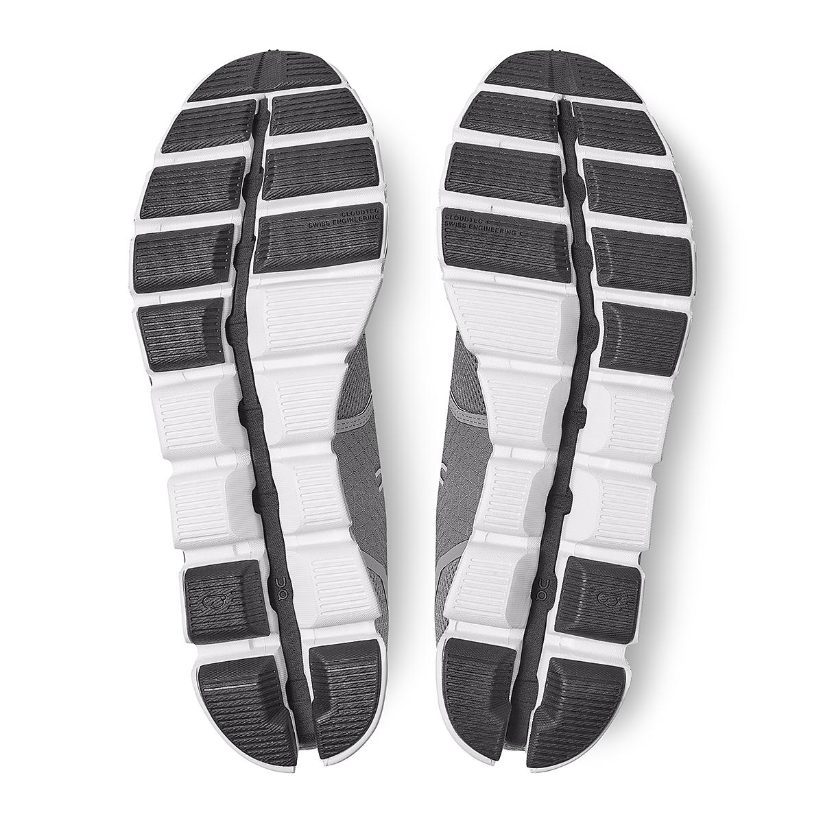 Men's On Cloud Running Shoe - Color: Zinc/White - Size: 7 - Width: Regular, Zinc/White, large, image 6