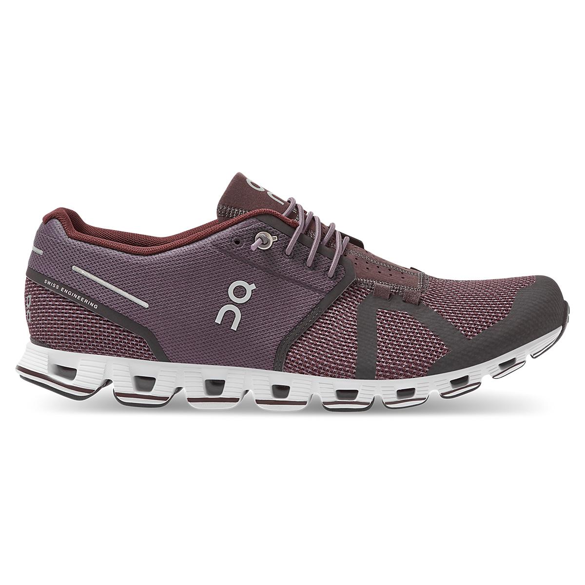 Men's On Cloud Running Shoe - Color: Pebble/Raisin - Size: 7.5 - Width: Regular, Pebble/Raisin, large, image 1