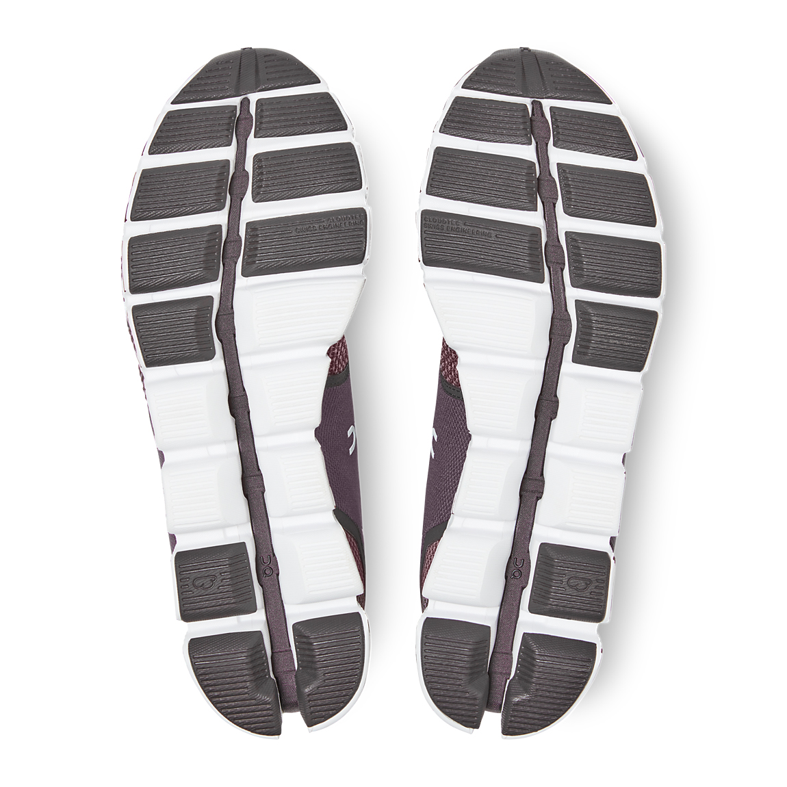 Men's On Cloud Running Shoe - Color: Pebble/Raisin - Size: 7.5 - Width: Regular, Pebble/Raisin, large, image 2