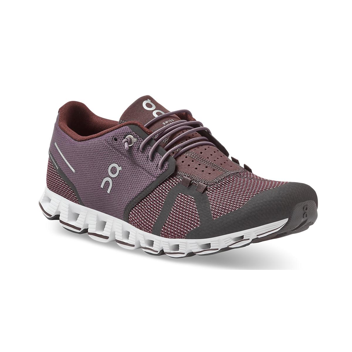 Men's On Cloud Running Shoe - Color: Pebble/Raisin - Size: 7.5 - Width: Regular, Pebble/Raisin, large, image 4