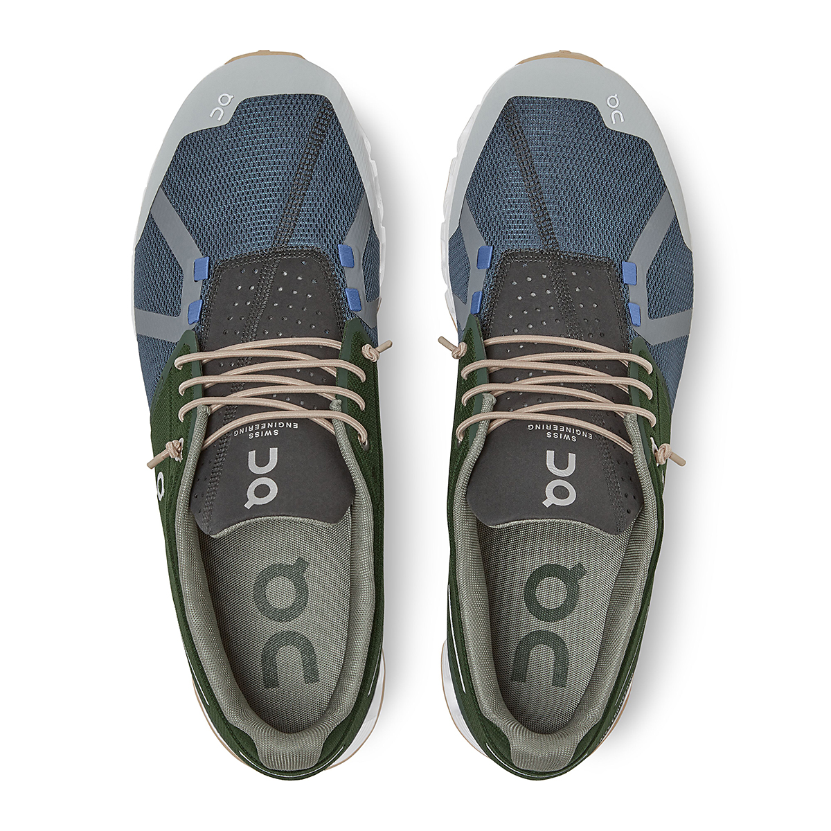 Men's On Cloud 70/30 Lifestyle Shoe - Color: Cactus/Storm - Size: 7 - Width: Regular, Cactus/Storm, large, image 3