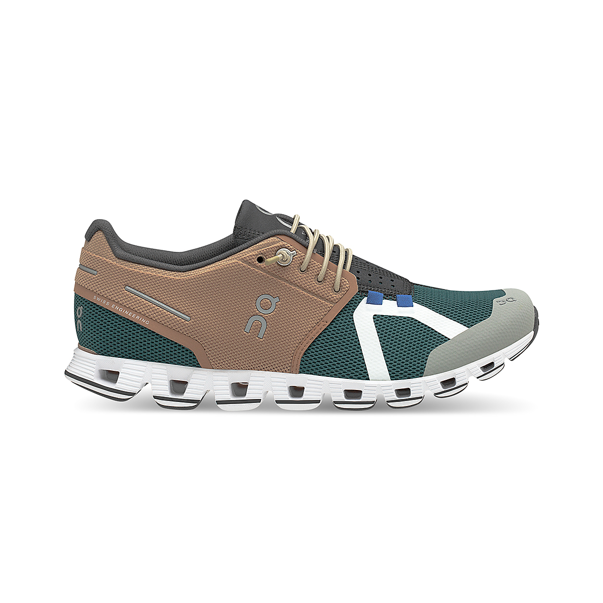 Women's On Cloud 70/30 Lifestyle Shoe - Color: Mocha/Evergreen - Size: 5 - Width: Regular, Mocha/Evergreen, large, image 1