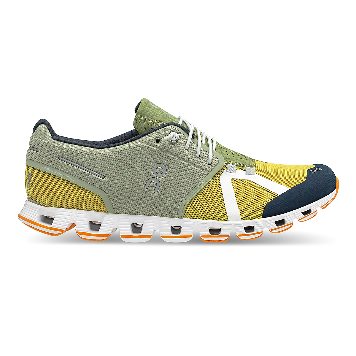 Men's On Cloud 70/30 Lifestyle Shoe - Color: Leaf/Mustard - Size: 7 - Width: Regular, Leaf/Mustard, large, image 1