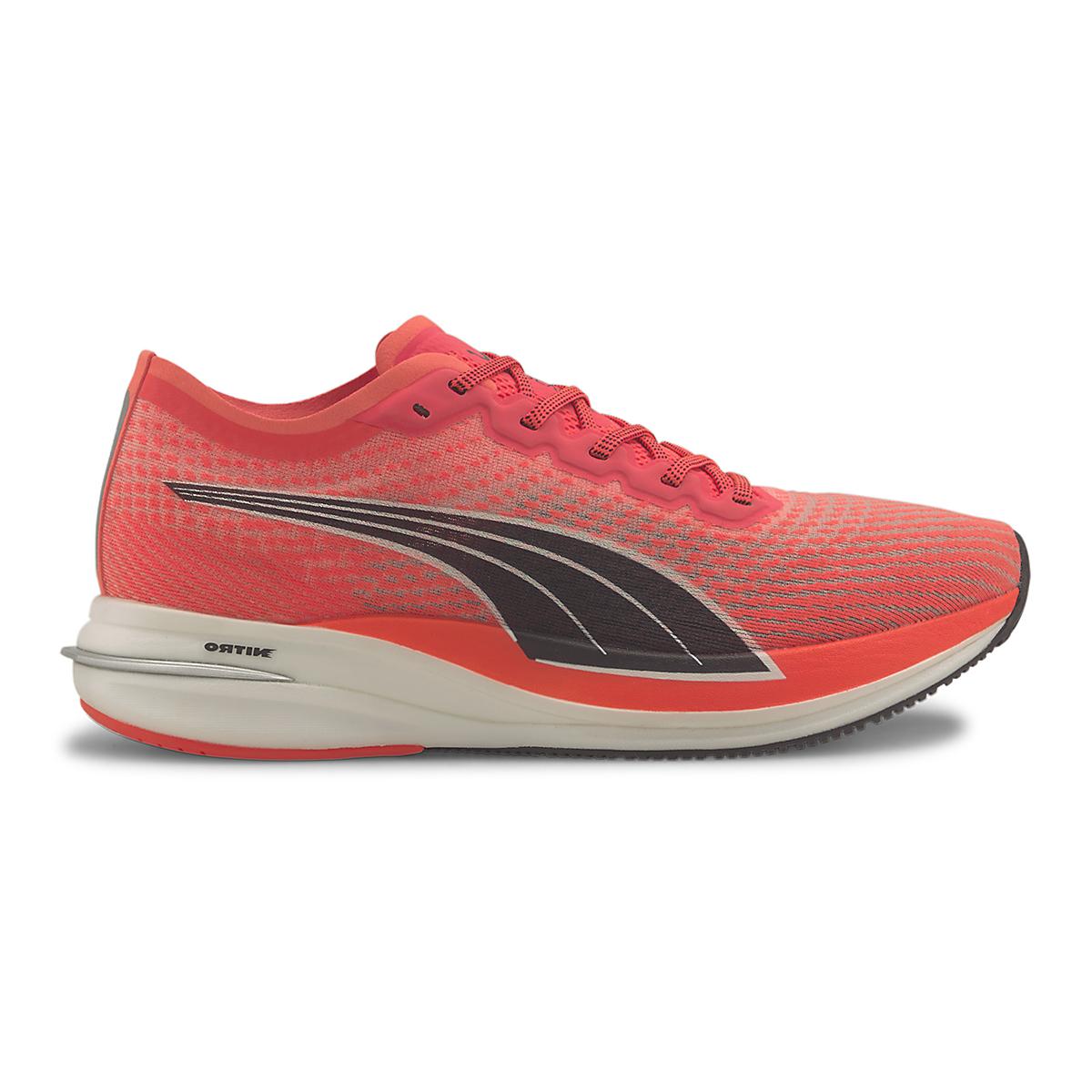 Men's Puma Deviate Nitro Running Shoe - Color: Lava Blast-Puma Black - Size: 7 - Width: Regular, Lava Blast-Puma Black, large, image 1