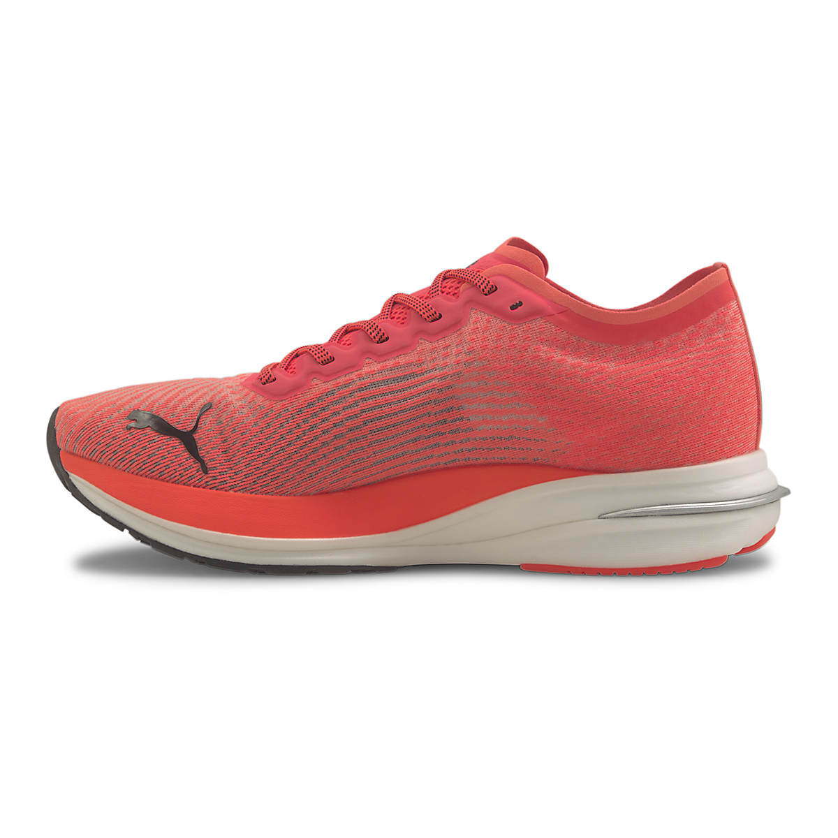 Men's Puma Deviate Nitro Running Shoe - Color: Lava Blast-Puma Black - Size: 7 - Width: Regular, Lava Blast-Puma Black, large, image 2