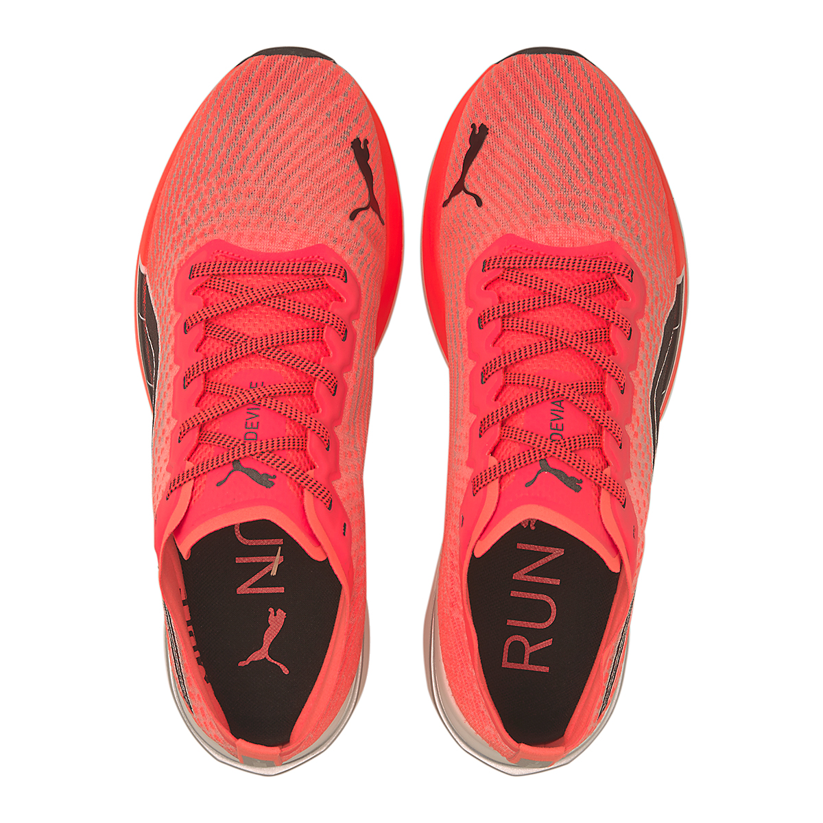 Men's Puma Deviate Nitro Running Shoe - Color: Lava Blast-Puma Black - Size: 7 - Width: Regular, Lava Blast-Puma Black, large, image 4