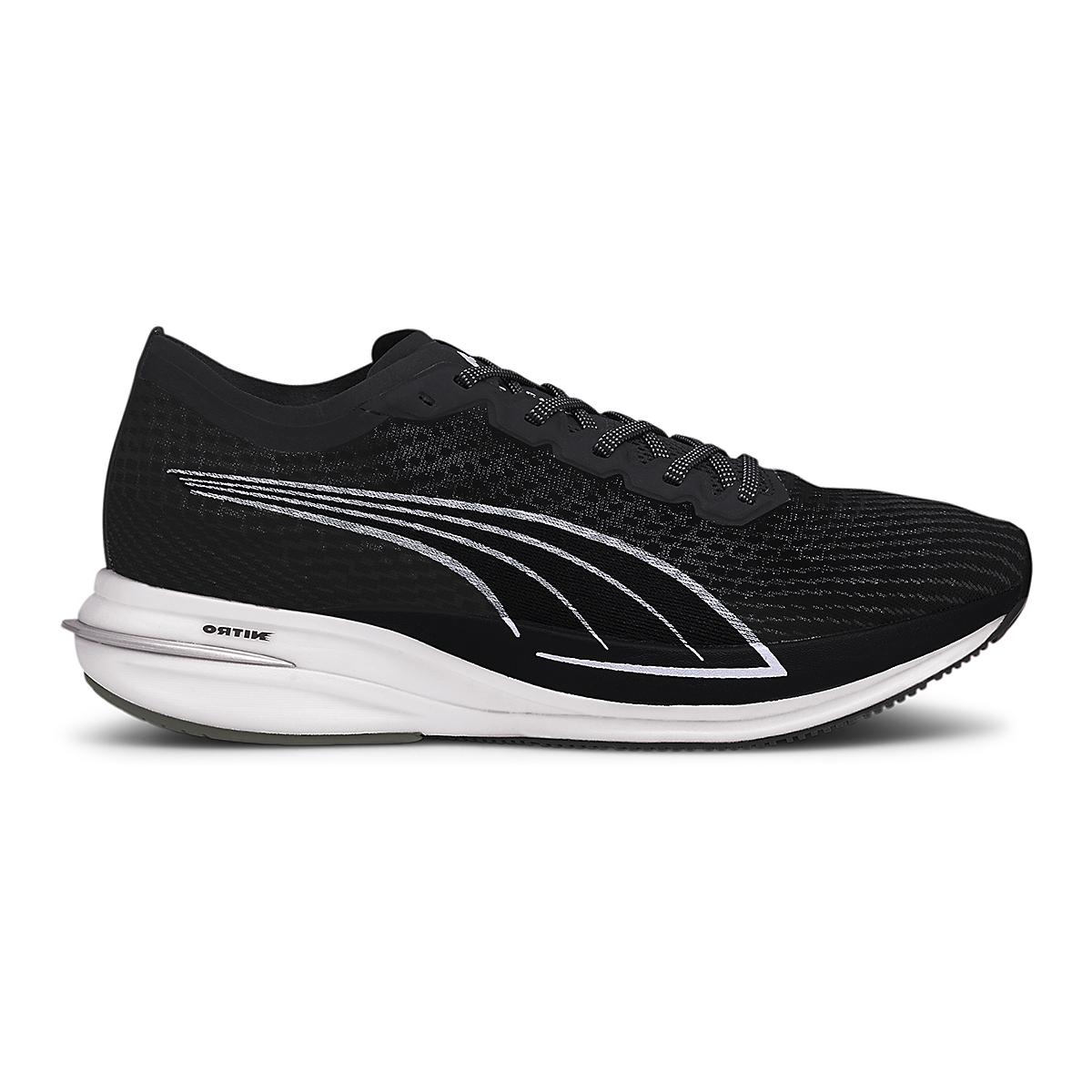 Men's Puma Deviate Nitro Running Shoe - Color: Puma Black-Puma Silver - Size: 7 - Width: Regular, Puma Black-Puma Silver, large, image 1