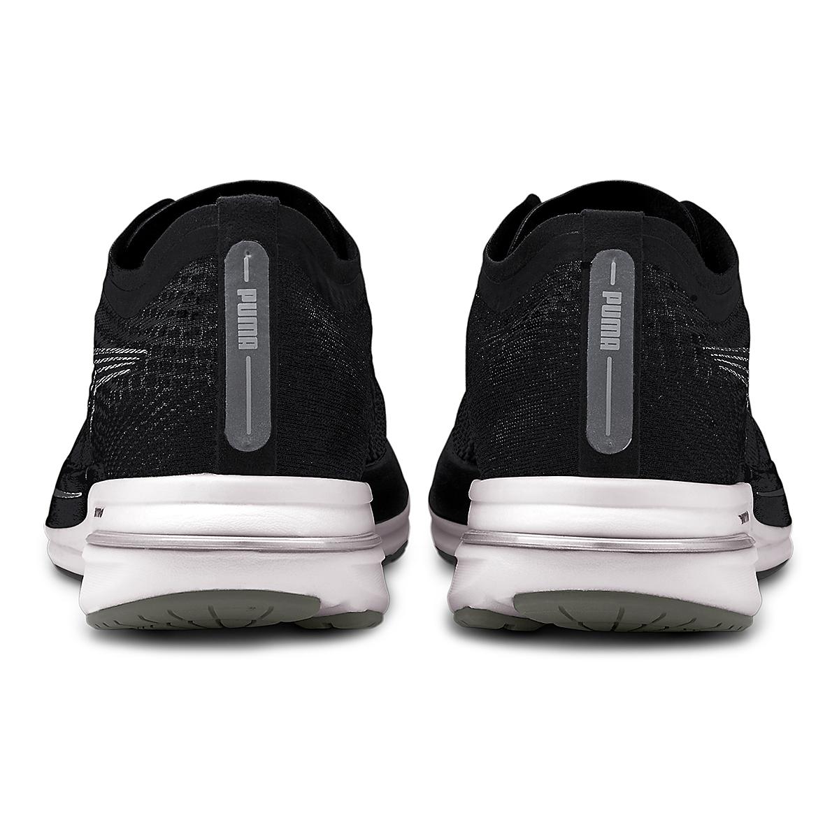 Men's Puma Deviate Nitro Running Shoe - Color: Puma Black-Puma Silver - Size: 7 - Width: Regular, Puma Black-Puma Silver, large, image 3