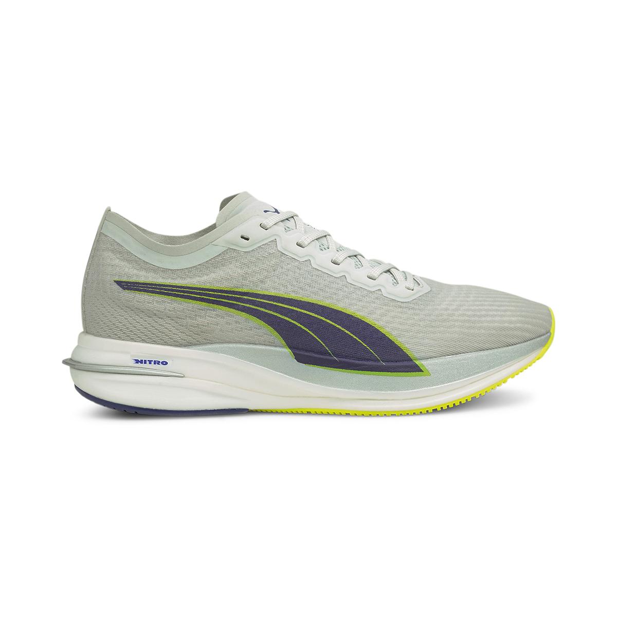 Men's Puma Deviate Nitro Running Shoe - Color: Gray Violet - Size: 7 - Width: Regular, Gray Violet, large, image 1
