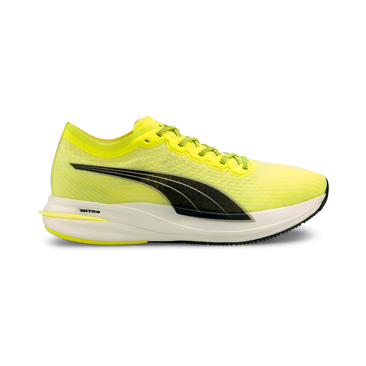 Men's Puma Deviate Nitro Running Shoe - Color: Yellow Alert - Size: 7 - Width: Regular, Yellow Alert, large, image 1