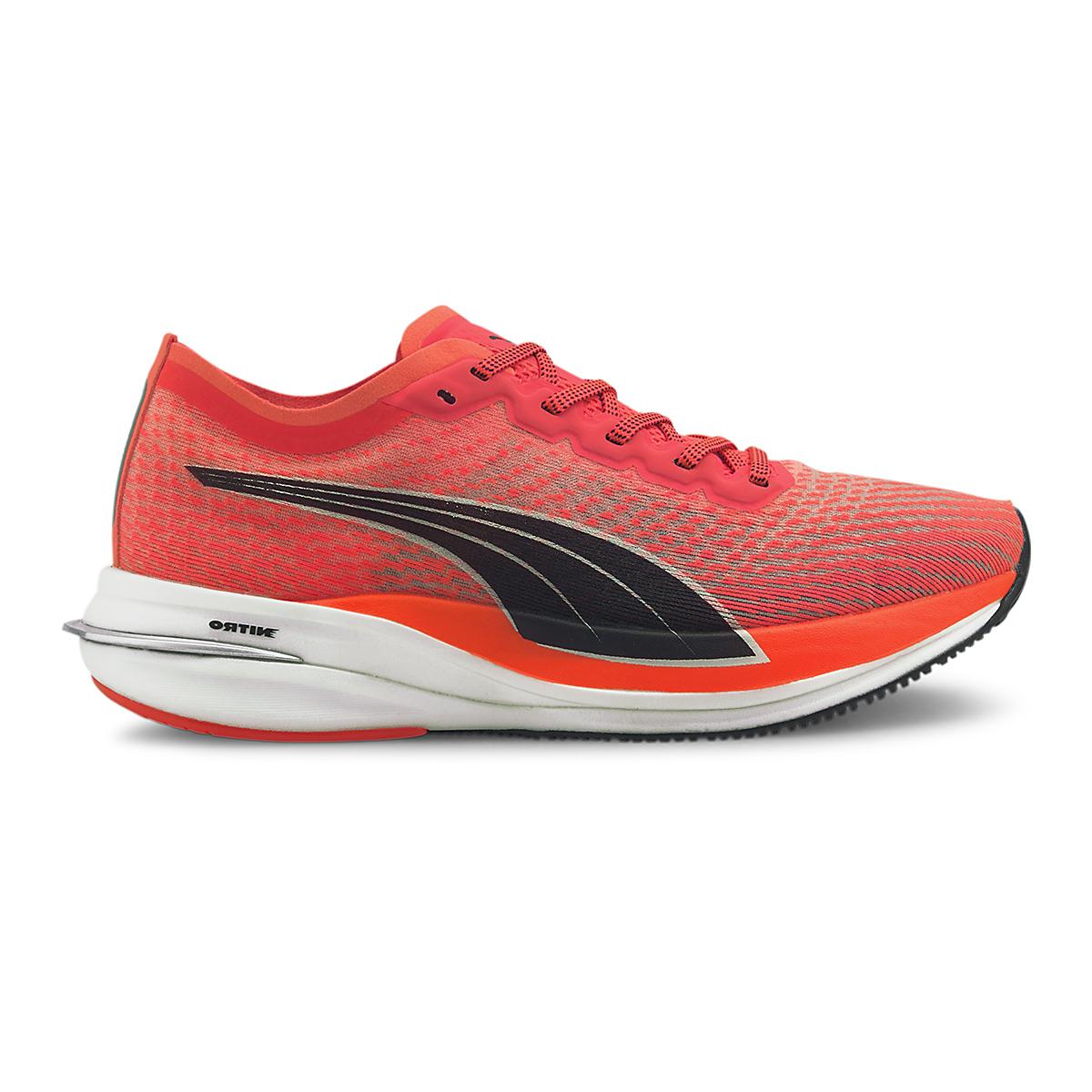 Women's Puma Deviate Nitro Running Shoe - Color: Lava Blast-Puma Black - Size: 5.5 - Width: Regular, Lava Blast-Puma Black, large, image 1