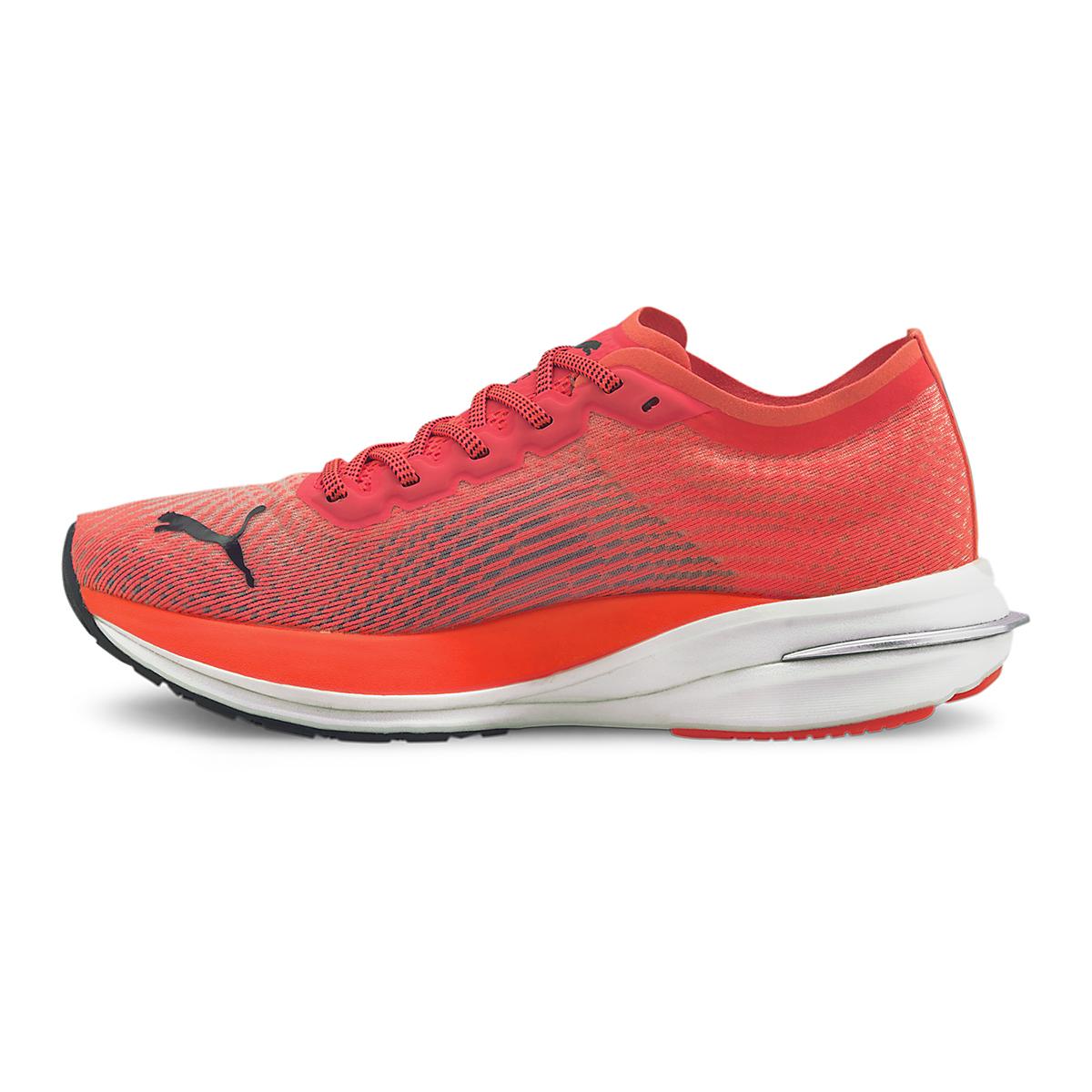 Women's Puma Deviate Nitro Running Shoe - Color: Lava Blast-Puma Black - Size: 5.5 - Width: Regular, Lava Blast-Puma Black, large, image 2