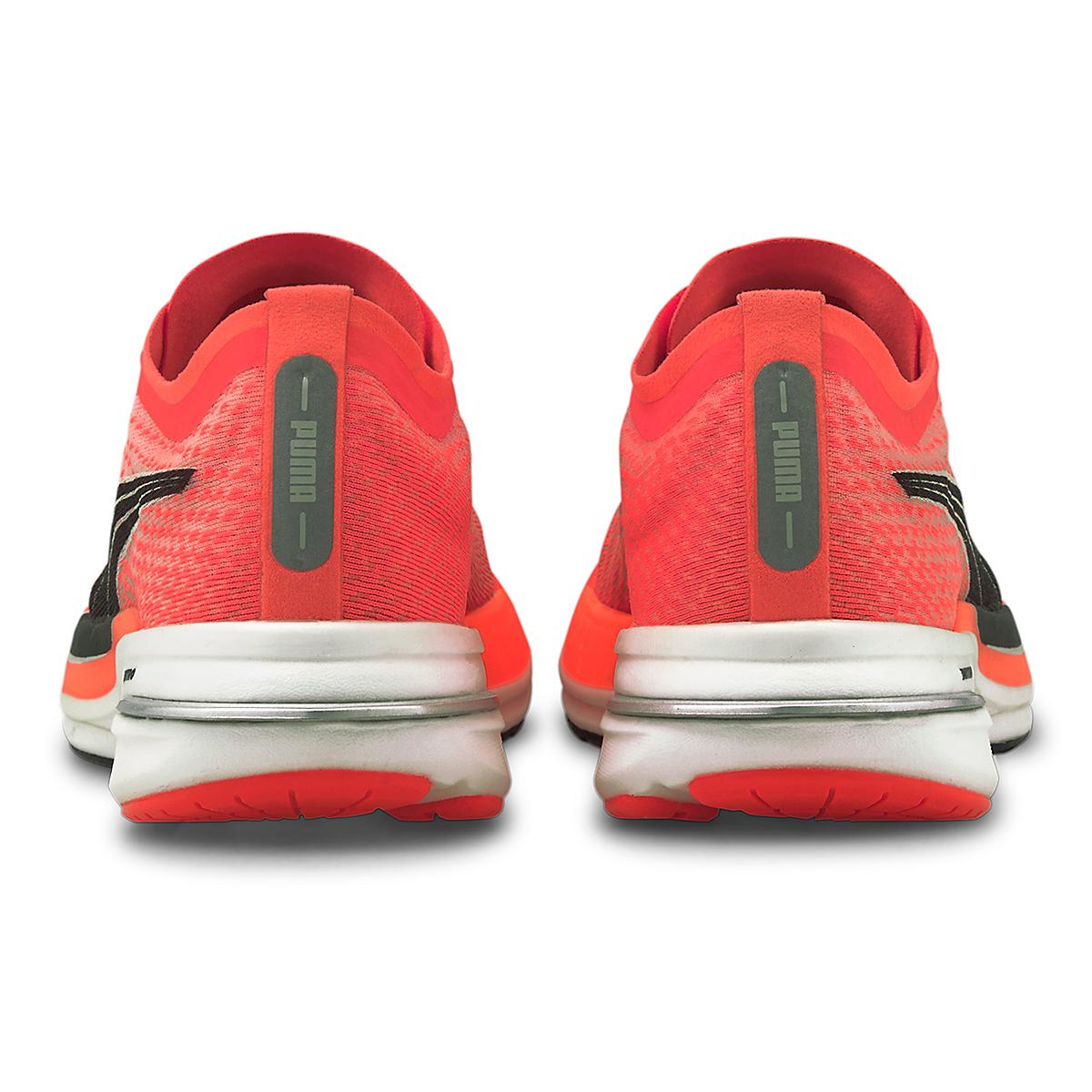 Women's Puma Deviate Nitro Running Shoe - Color: Lava Blast-Puma Black - Size: 5.5 - Width: Regular, Lava Blast-Puma Black, large, image 3