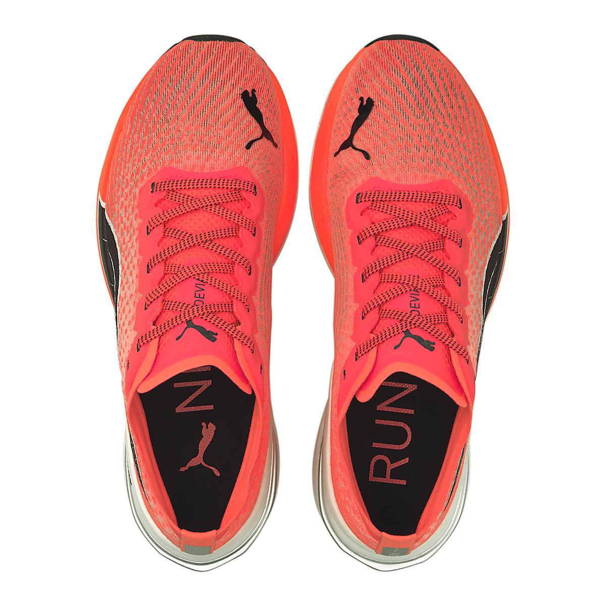 Women's Puma Deviate Nitro Running Shoe - Color: Lava Blast-Puma Black - Size: 5.5 - Width: Regular, Lava Blast-Puma Black, large, image 4