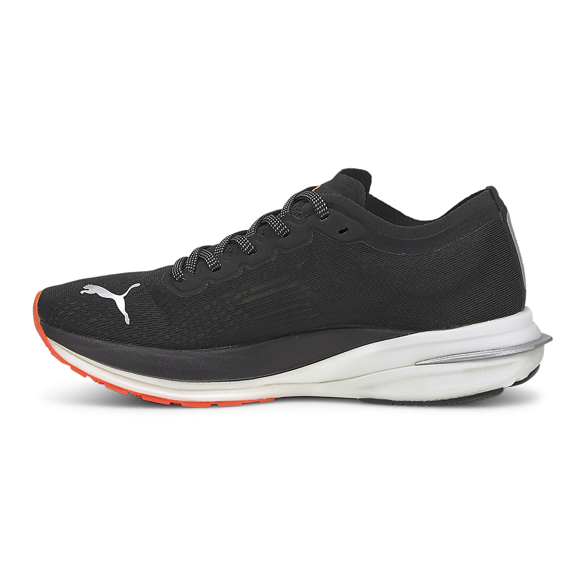 Women's Puma Deviate Nitro Running Shoe - Color: Puma Black-Lava Blast - Size: 5.5 - Width: Regular, Puma Black-Lava Blast, large, image 2