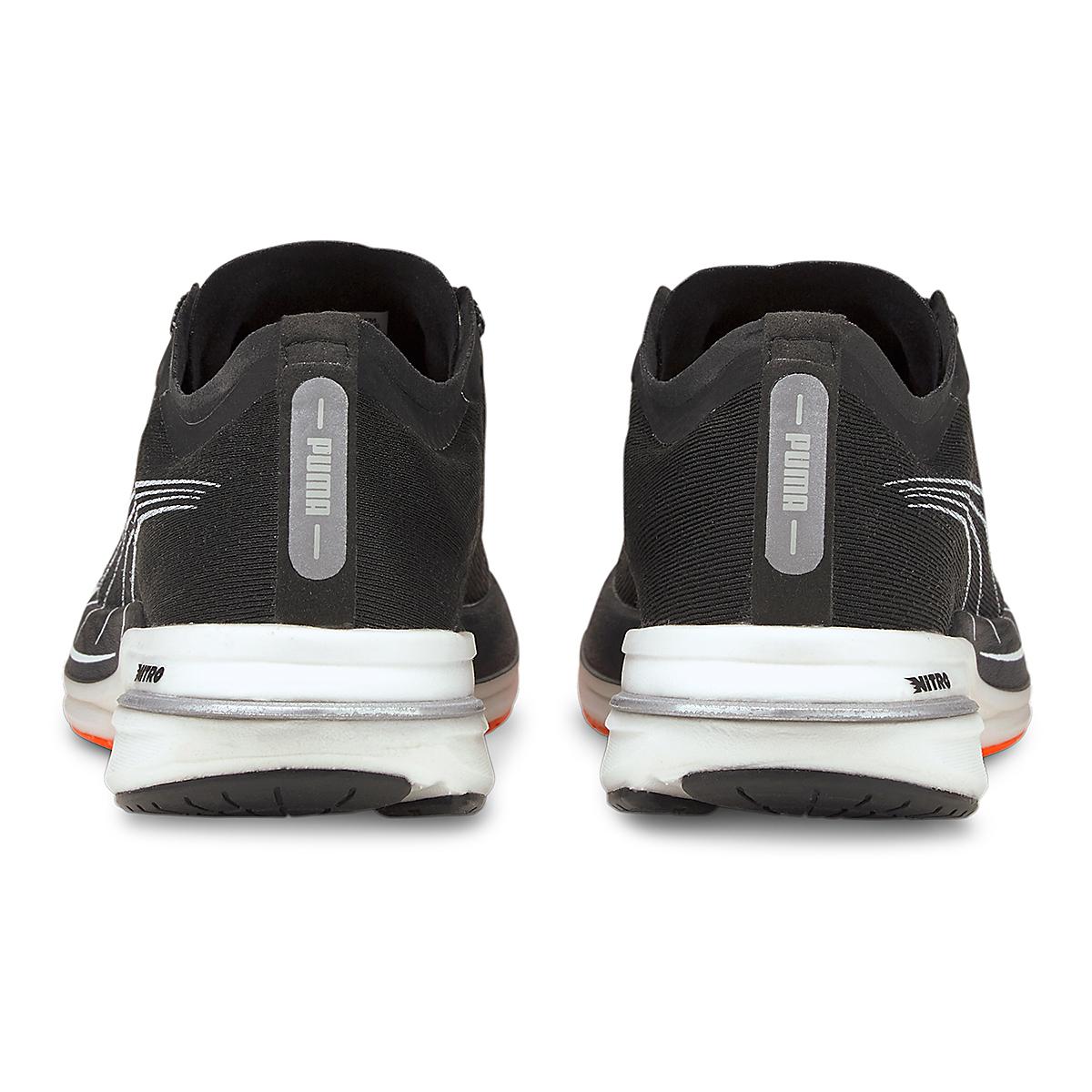 Women's Puma Deviate Nitro Running Shoe - Color: Puma Black-Lava Blast - Size: 5.5 - Width: Regular, Puma Black-Lava Blast, large, image 3