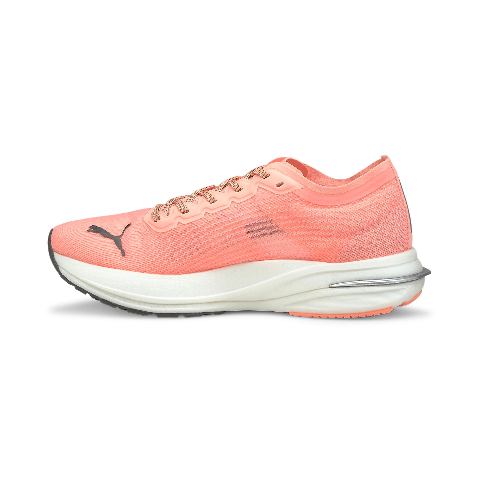 Women's Puma Deviate Nitro Running Shoe - Color: Elektro Peach - Size: 5.5 - Width: Regular, Elektro Peach, large, image 2