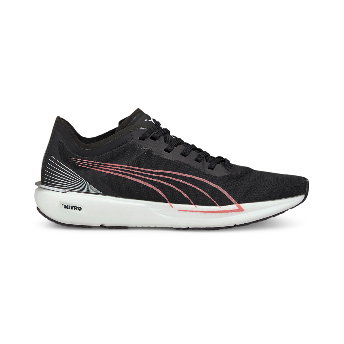 Women's Puma Liberate Nitro Running Shoe - Color: Puma Black - Size: 5.5 - Width: Regular, Puma Black, large, image 1