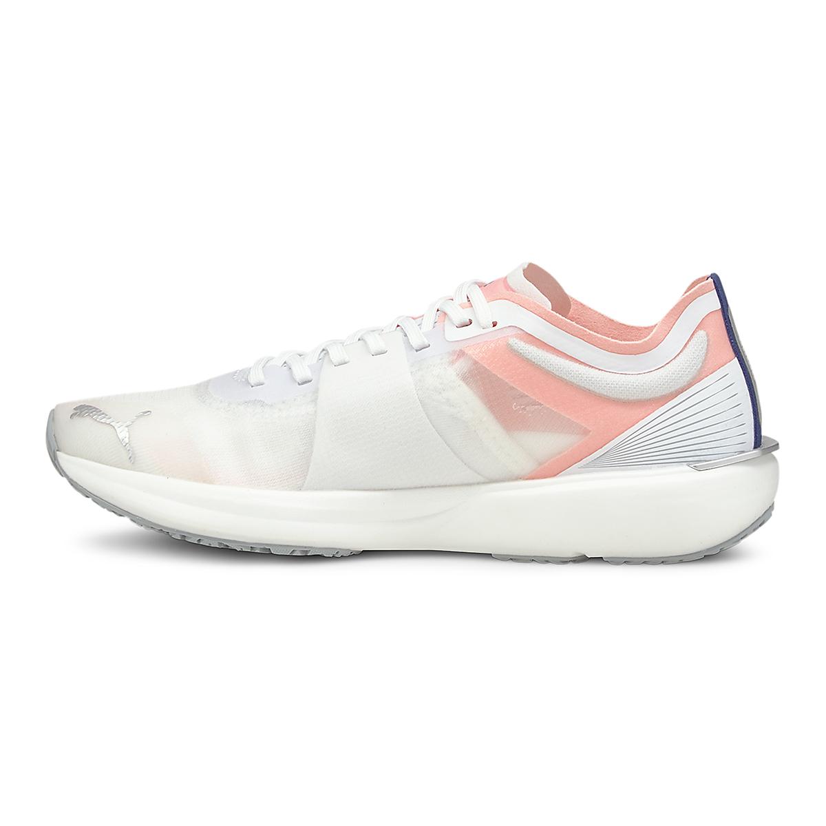 Women's Puma Liberate Nitro Running Shoe - Color: Puma White-Elektro Peach - Size: 6.5 - Width: Regular, Puma White-Elektro Peach, large, image 2