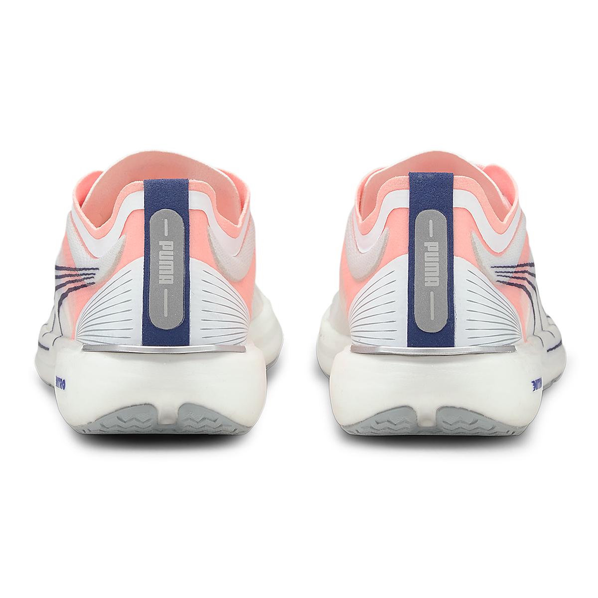 Women's Puma Liberate Nitro Running Shoe - Color: Puma White-Elektro Peach - Size: 6.5 - Width: Regular, Puma White-Elektro Peach, large, image 3