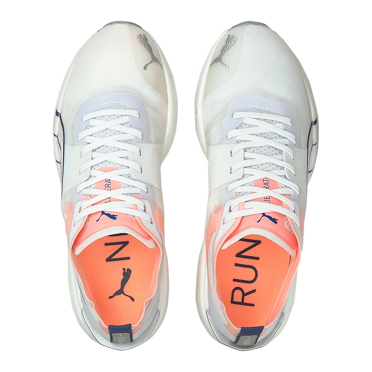 Women's Puma Liberate Nitro Running Shoe - Color: Puma White-Elektro Peach - Size: 6.5 - Width: Regular, Puma White-Elektro Peach, large, image 4