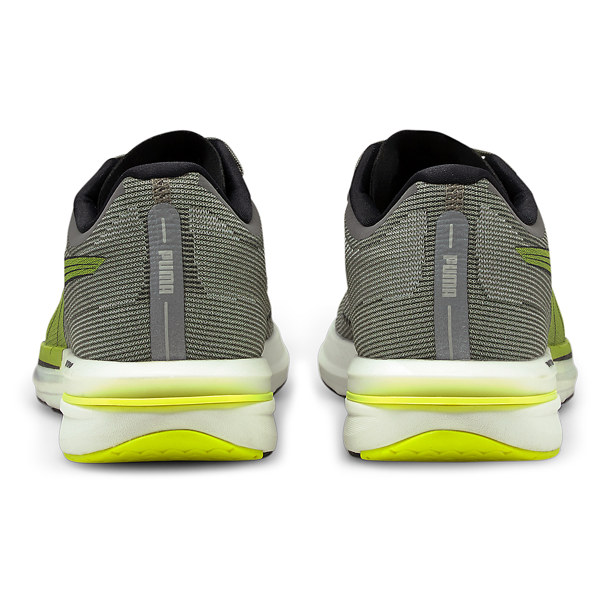 Men's Puma Velocity Nitro Running Shoe - Color: Castlerock-Yellow Alert-Puma Black - Size: 7 - Width: Regular, Castlerock-Yellow Alert-Puma Black, large, image 3
