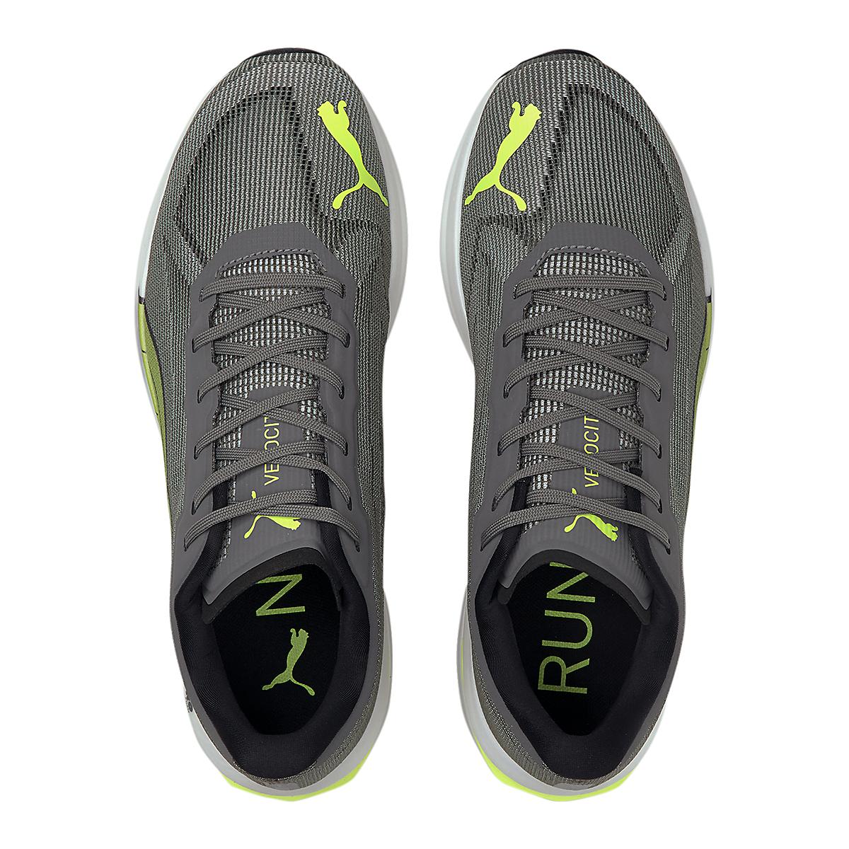 Men's Puma Velocity Nitro Running Shoe - Color: Castlerock-Yellow Alert-Puma Black - Size: 7 - Width: Regular, Castlerock-Yellow Alert-Puma Black, large, image 4