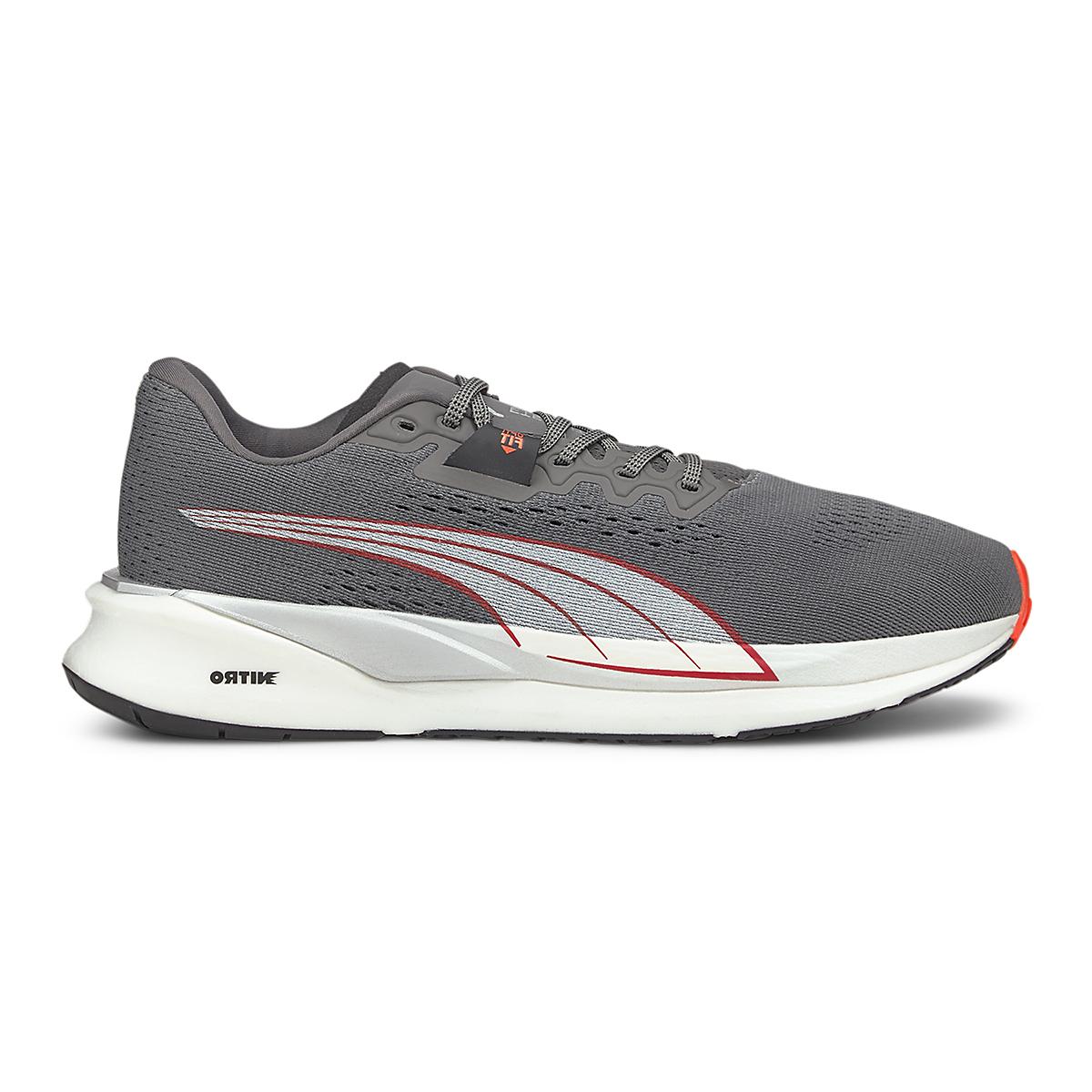 Men's Puma Eternity Nitro Running Shoe - Color: Castlerock / Puma White / Lava Blast - Size: 7 - Width: Regular, Castlerock / Puma White / Lava Blast, large, image 1