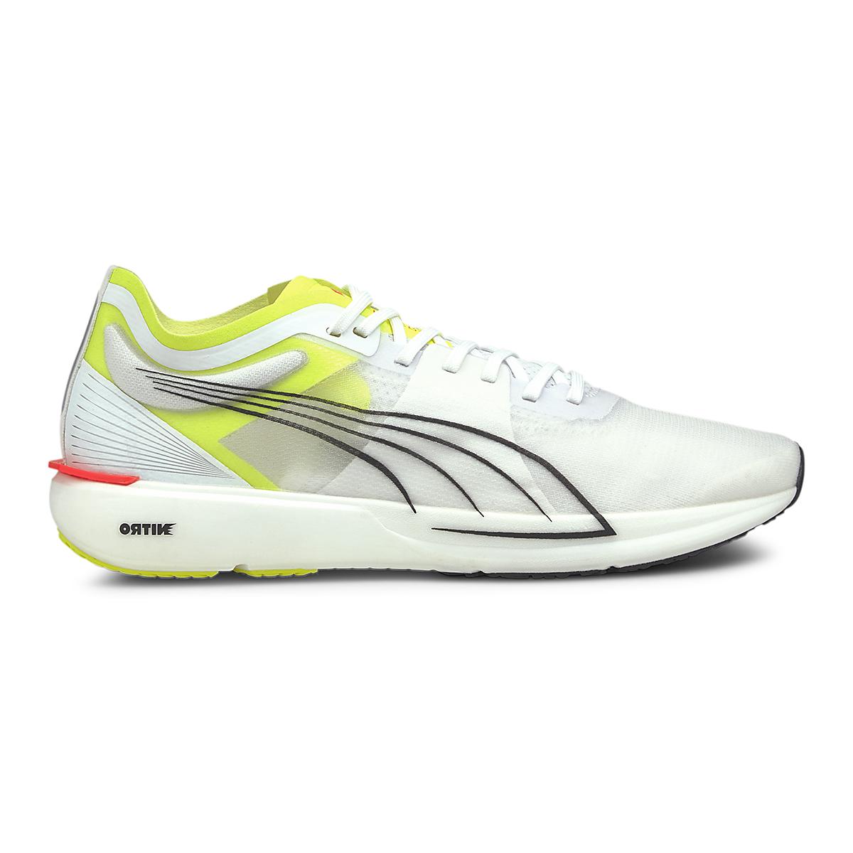 Men's Puma Liberate Nitro Running Shoe - Color: Puma White-Yellow Alert - Size: 7 - Width: Regular, Puma White-Yellow Alert, large, image 1