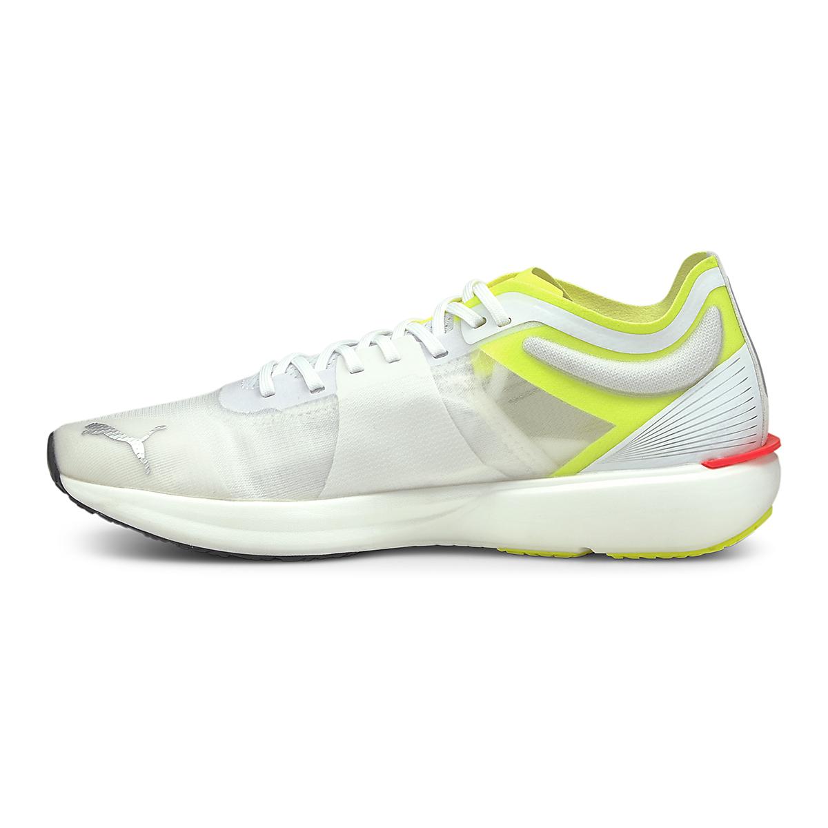 Men's Puma Liberate Nitro Running Shoe - Color: Puma White-Yellow Alert - Size: 7 - Width: Regular, Puma White-Yellow Alert, large, image 2
