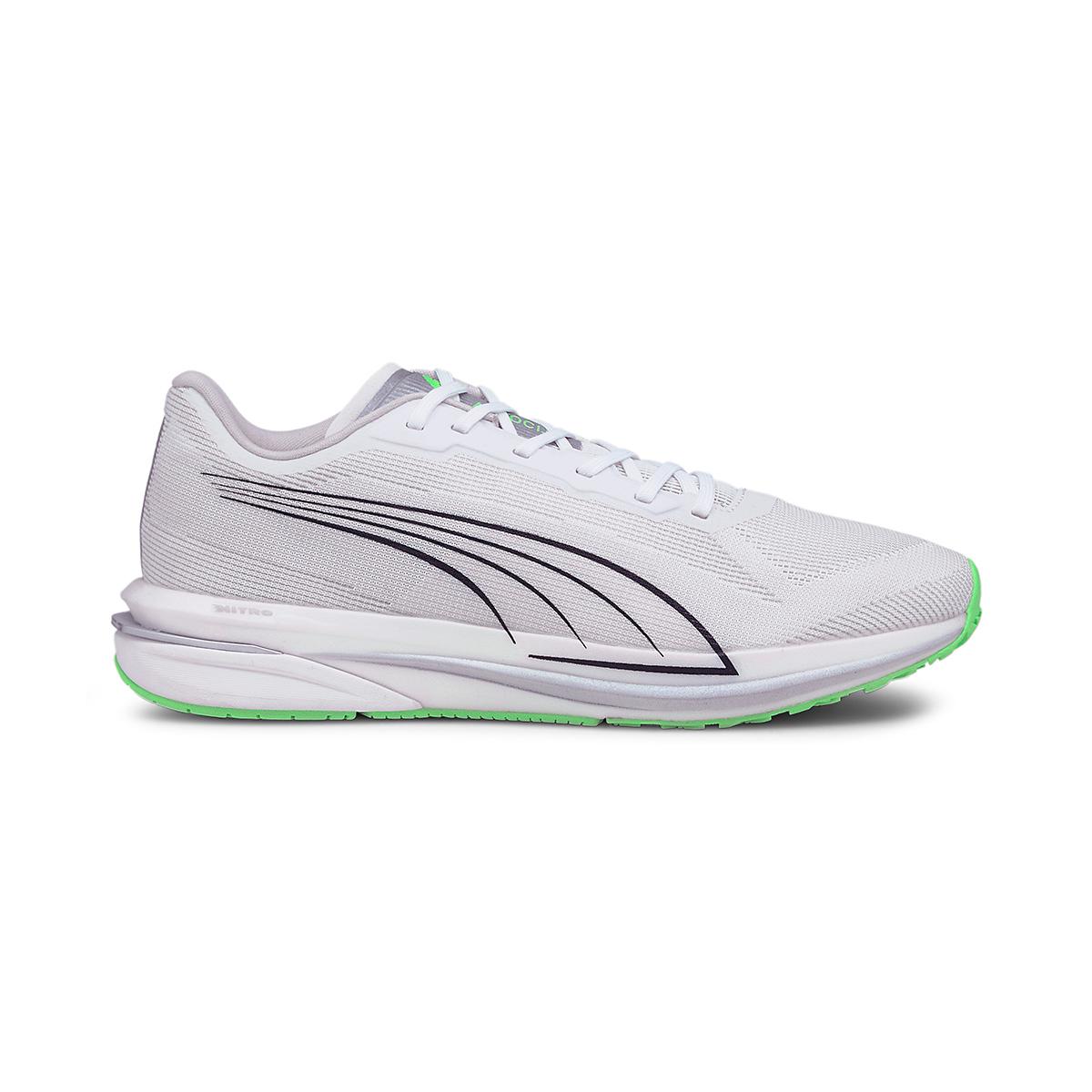 Men's Puma Velocity Nitro COOLadapt Running Shoe - Color: Puma White - Size: 7 - Width: Regular, Puma White, large, image 1