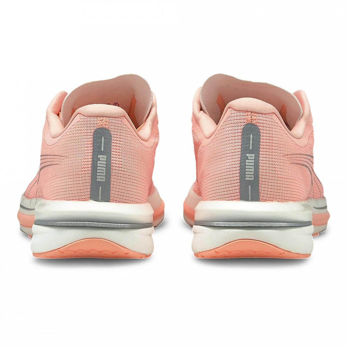 Women's Puma Velocity Nitro Running Shoe - Color: Elektro Peach-Puma Silver - Size: 5.5 - Width: Regular, Elektro Peach-Puma Silver, large, image 3